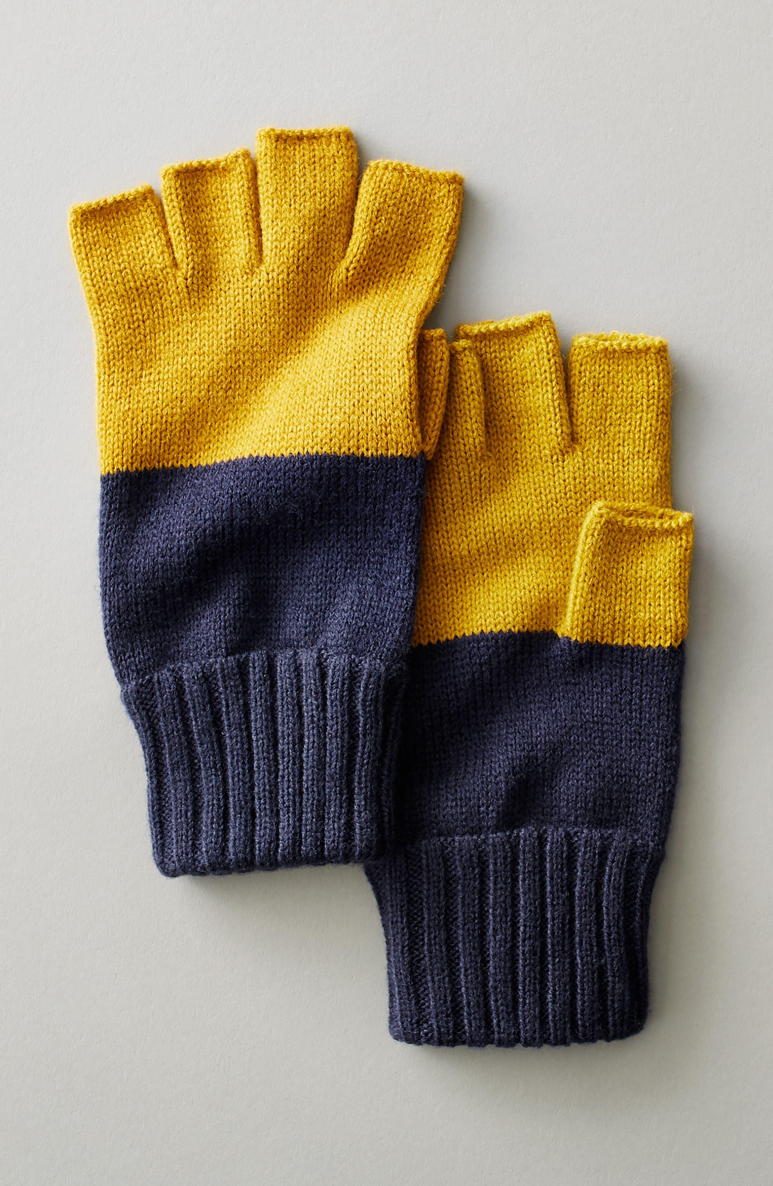 THE RAIL,                             Colorblock Fingerless Gloves,                             Alternate thumbnail 3, color,                             021