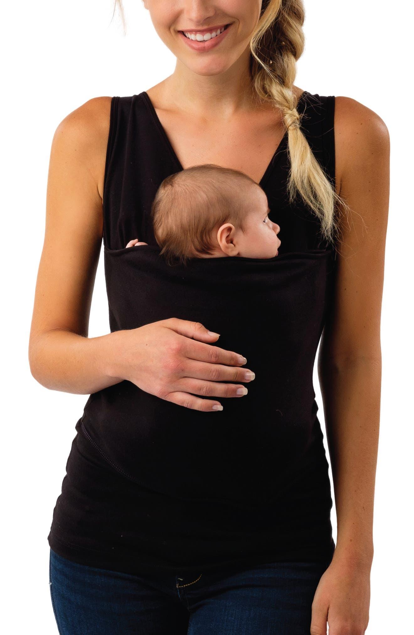 Soothe Maternity/Nursing Tank,                             Main thumbnail 1, color,                             PURE BLACK