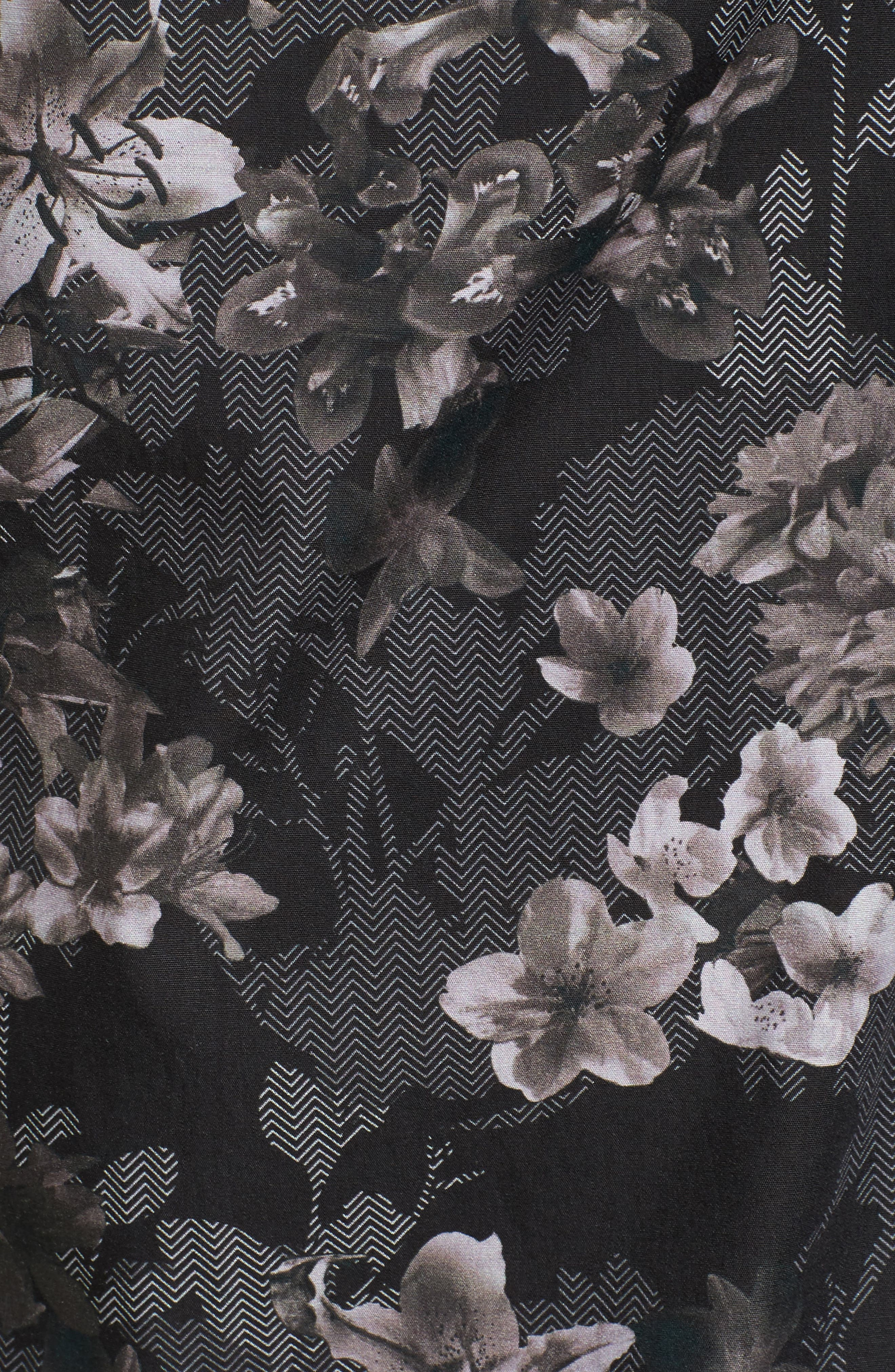 Ted Baker Konkord Slim Fit Floral Print Sport Shirt,                             Alternate thumbnail 5, color,                             001