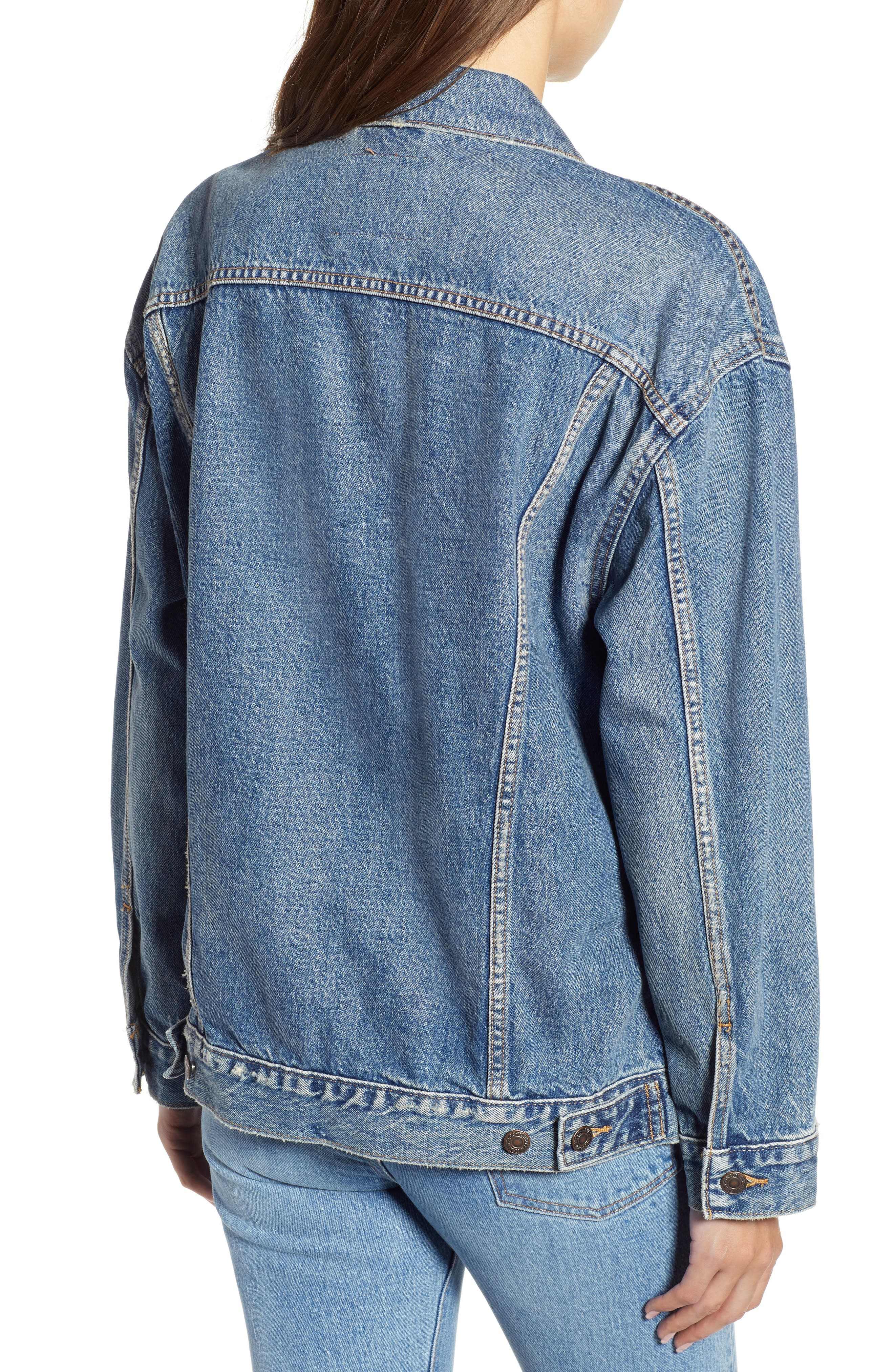 Baggy Trucker Denim Jacket,                             Alternate thumbnail 2, color,                             BUST A MOVE