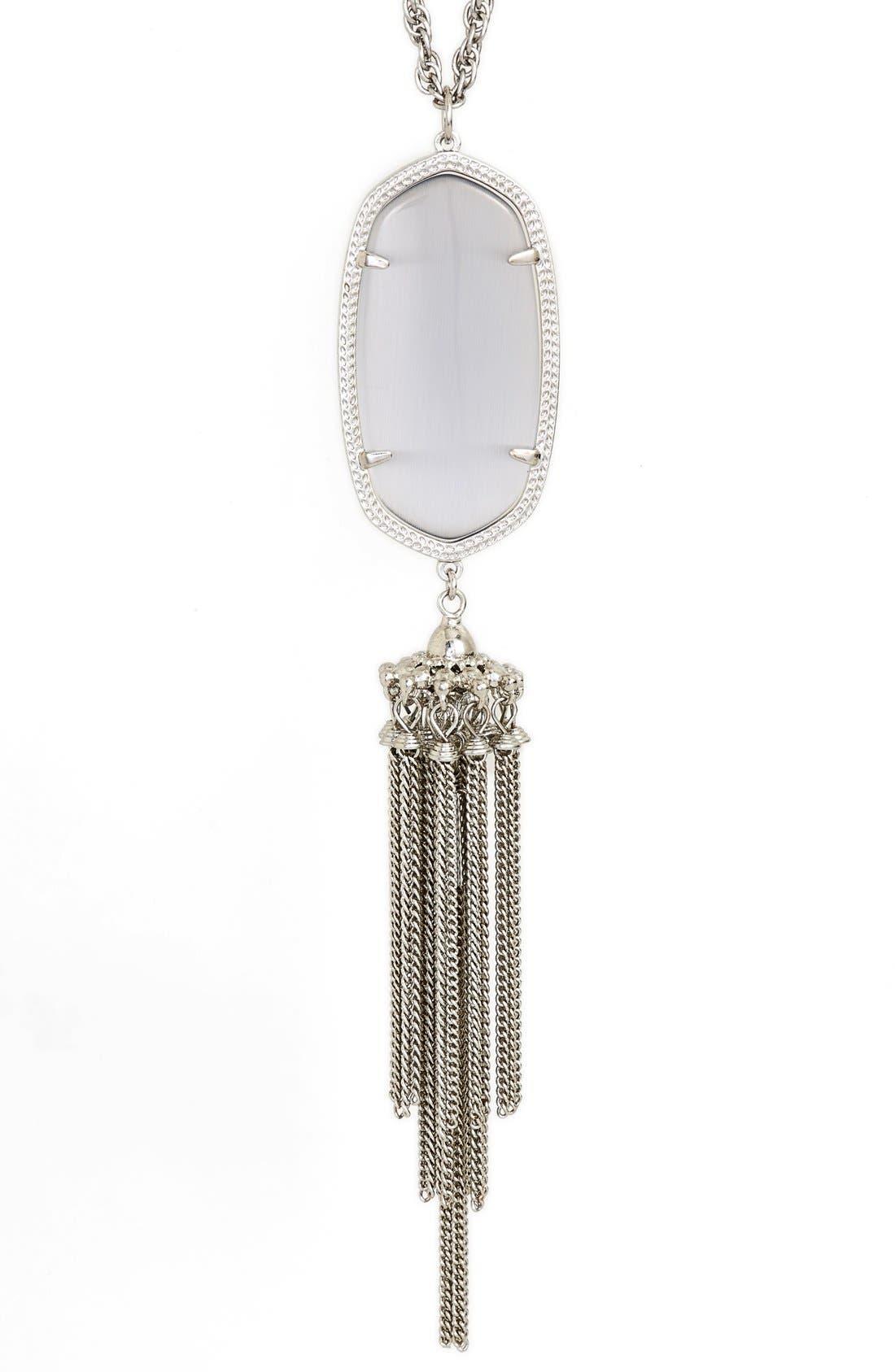 'Rayne' Tassel Pendant Necklace,                             Alternate thumbnail 2, color,                             023