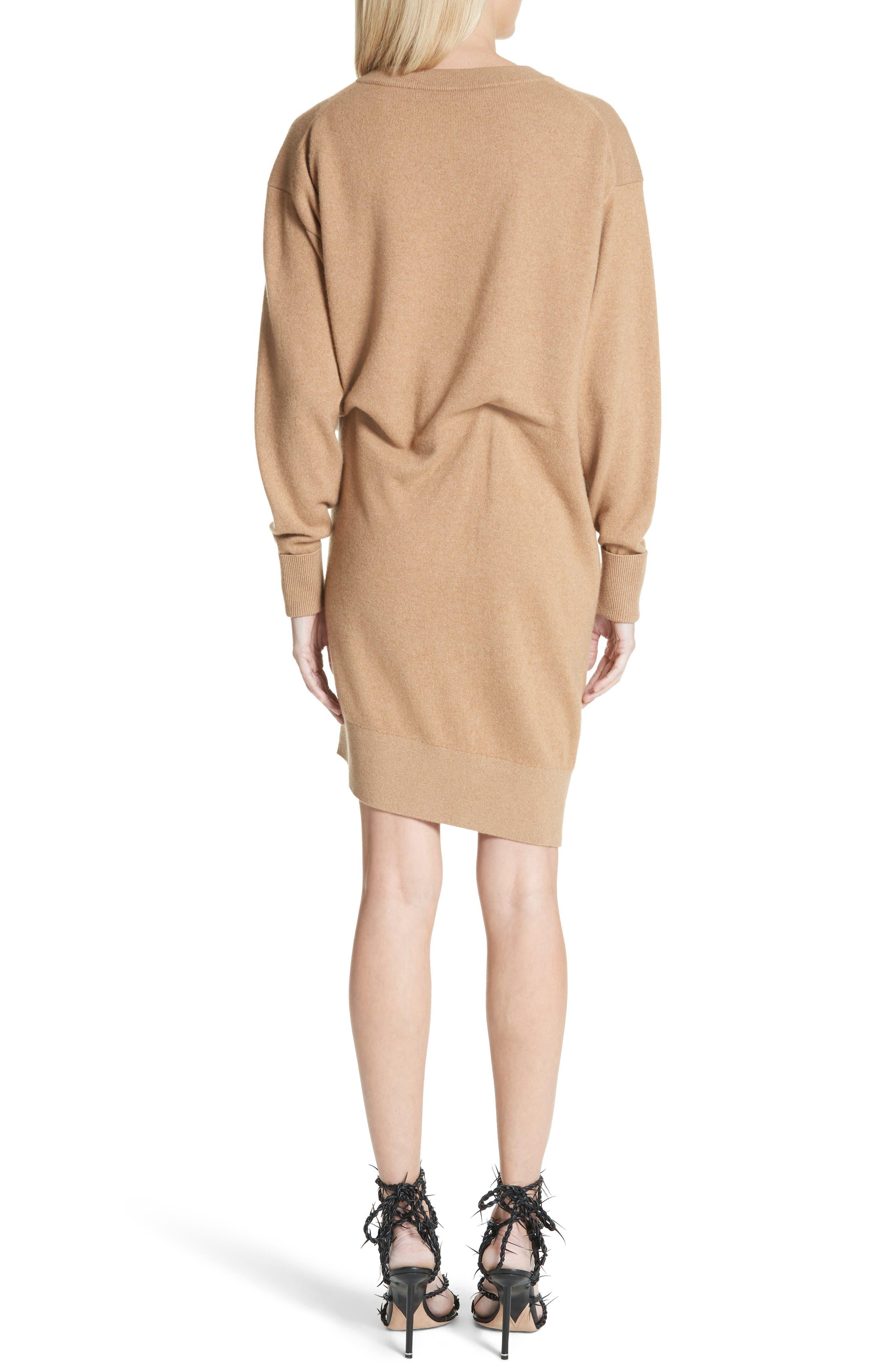Asymmetrical Wool & Cashmere Blend Sweater Dress,                             Alternate thumbnail 2, color,                             204