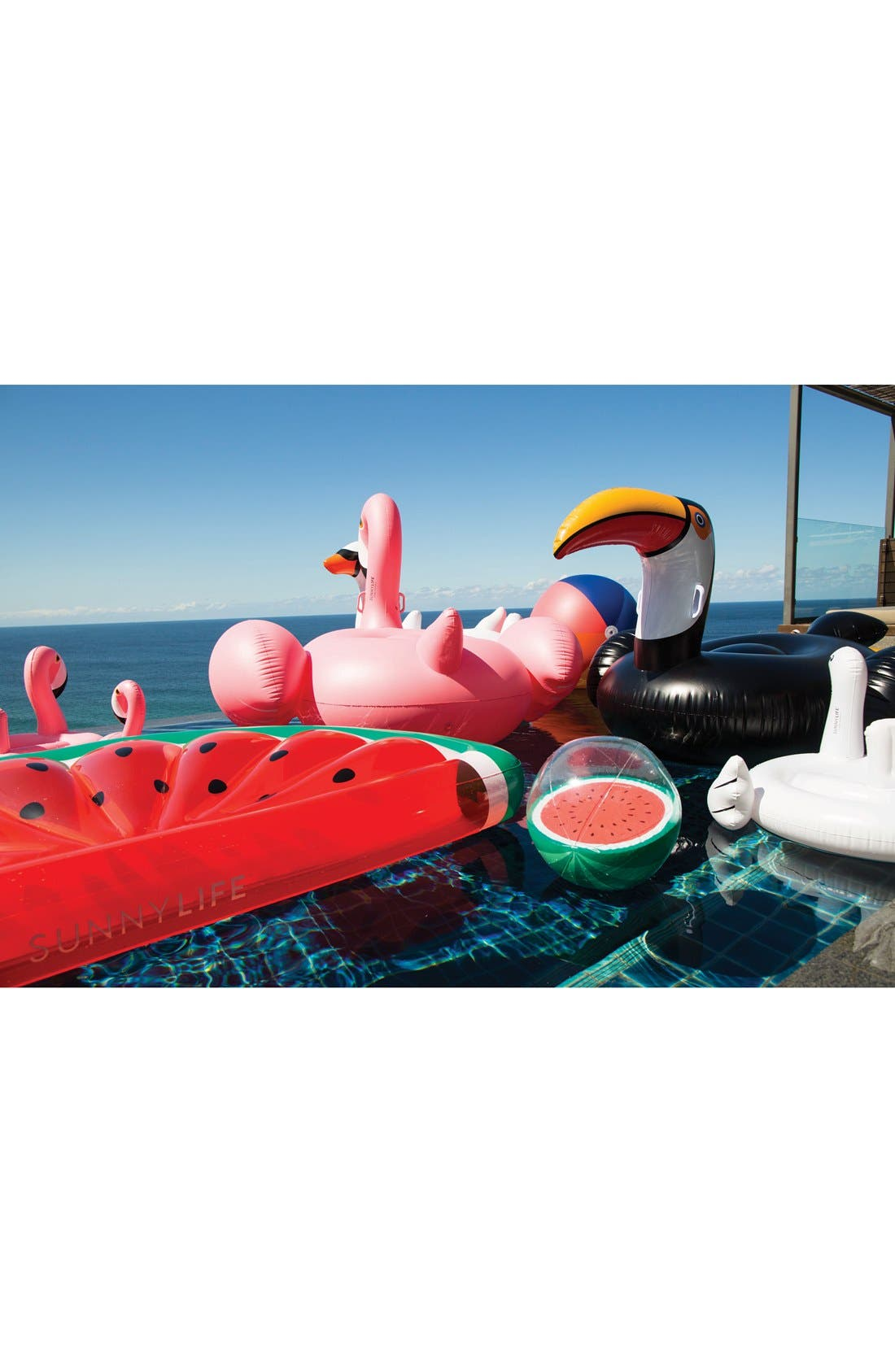 'Really Big' Inflatable Watermelon Pool Float,                             Alternate thumbnail 3, color,