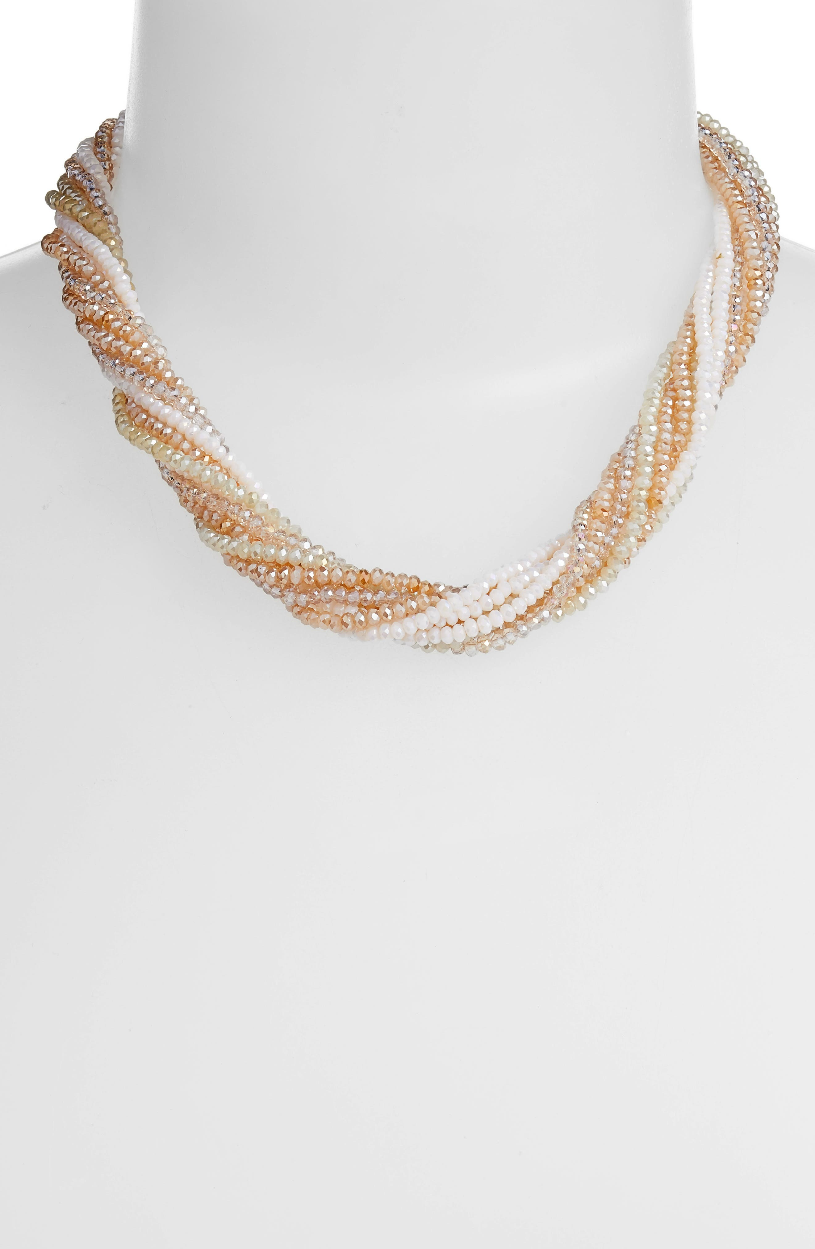 Multi Strand Beaded Necklace,                             Alternate thumbnail 2, color,                             250