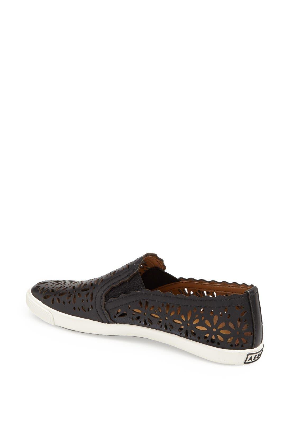 AERIN,                             'Murex' Perforated Slip-On Sneaker,                             Alternate thumbnail 4, color,                             001