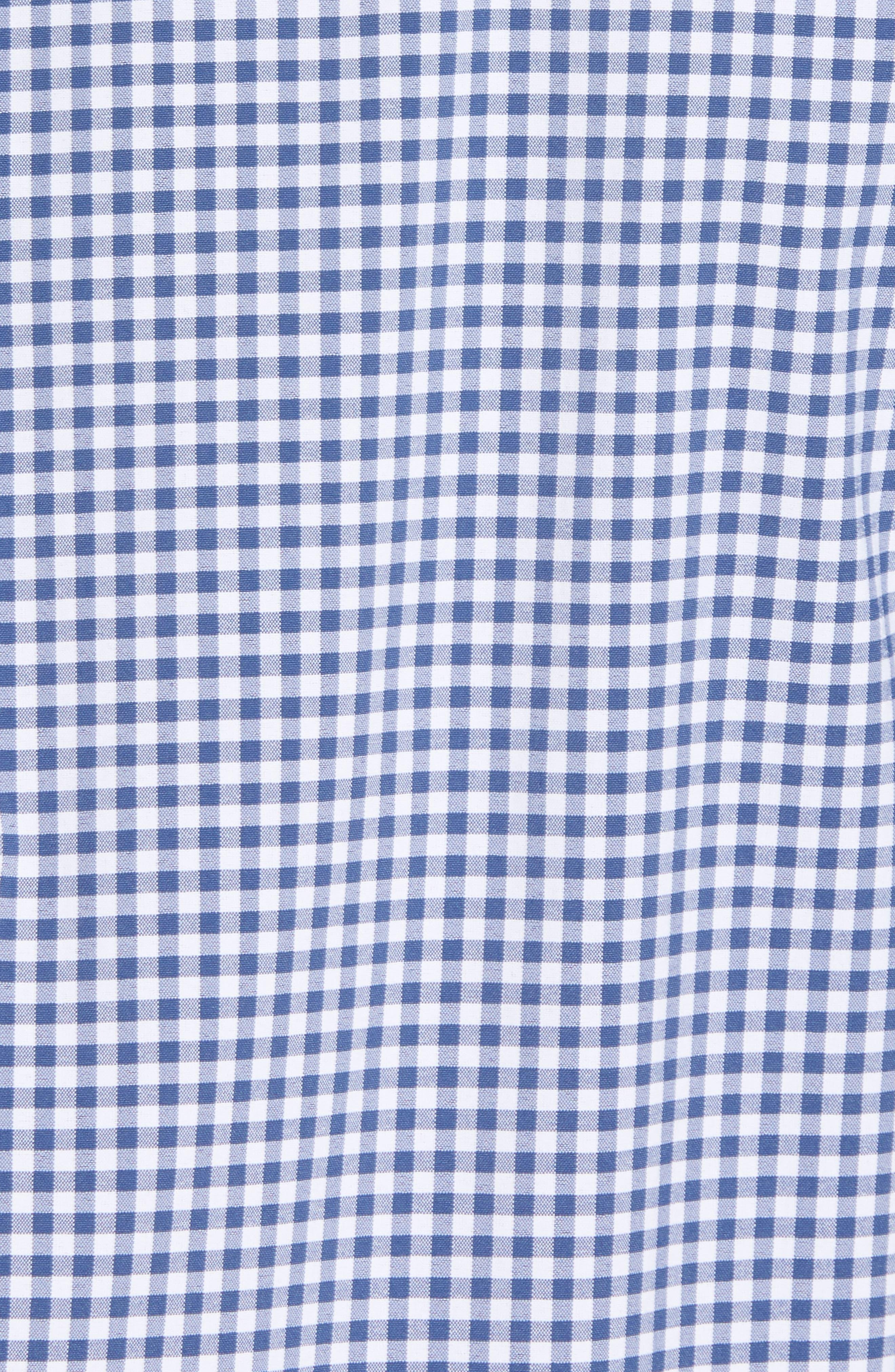 Grand Cay Tucker Regular Fit Gingham Performance Sport Shirt,                             Alternate thumbnail 5, color,                             MOONSHINE