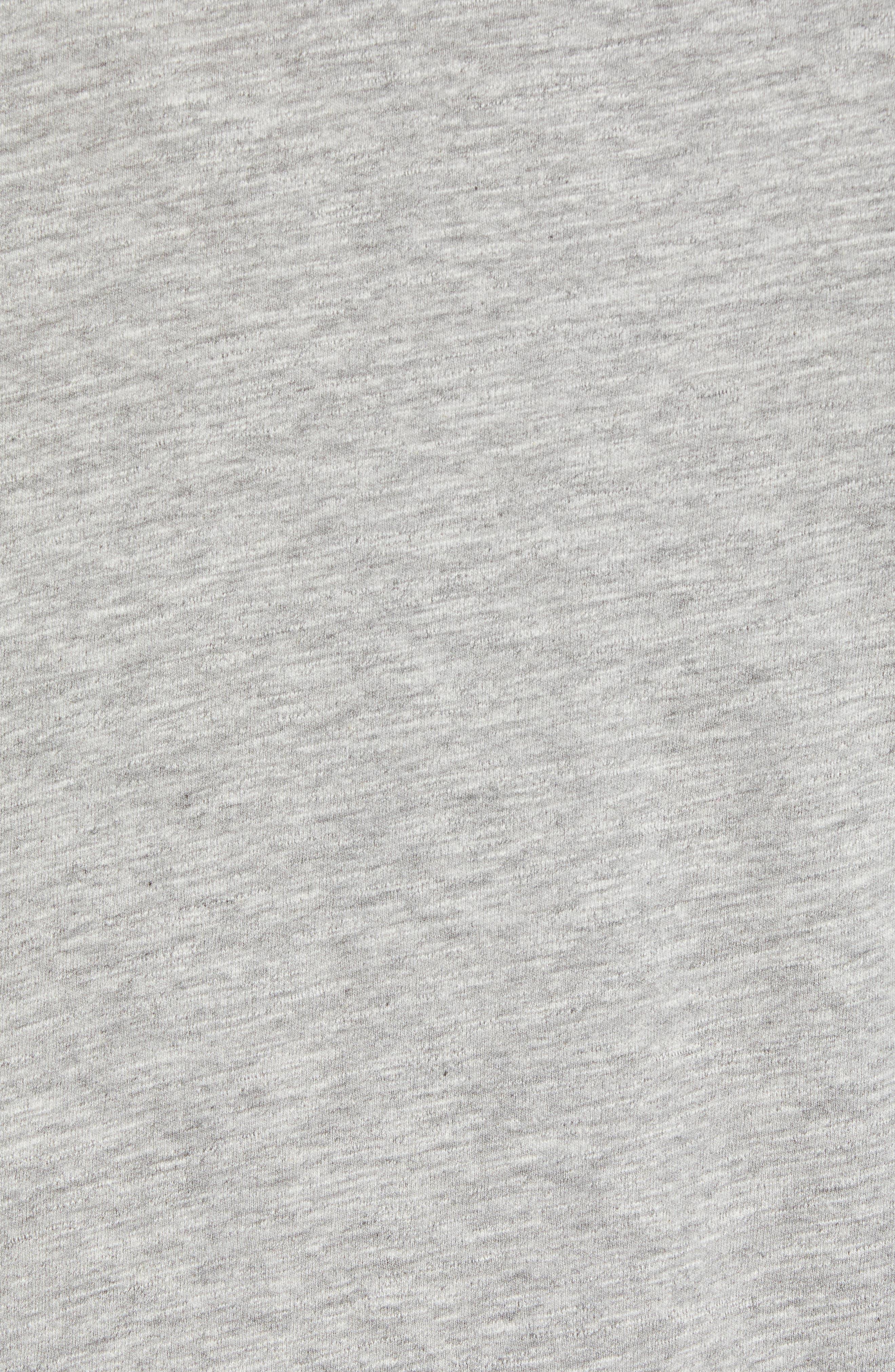 Collegiate Graphic T-Shirt,                             Alternate thumbnail 5, color,                             LIGHT GREY HEATHER