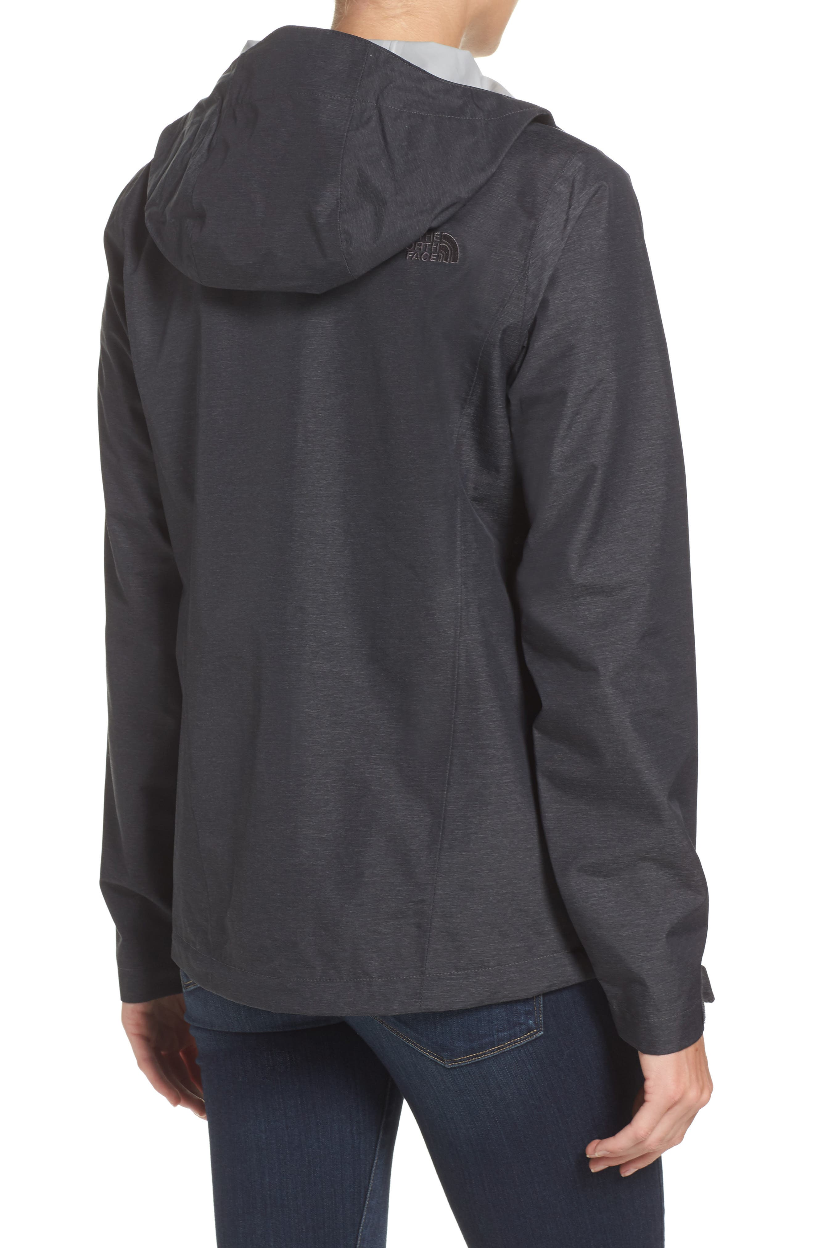 Venture 2 Waterproof Jacket,                             Alternate thumbnail 2, color,                             TNF DARK GREY HEATHER
