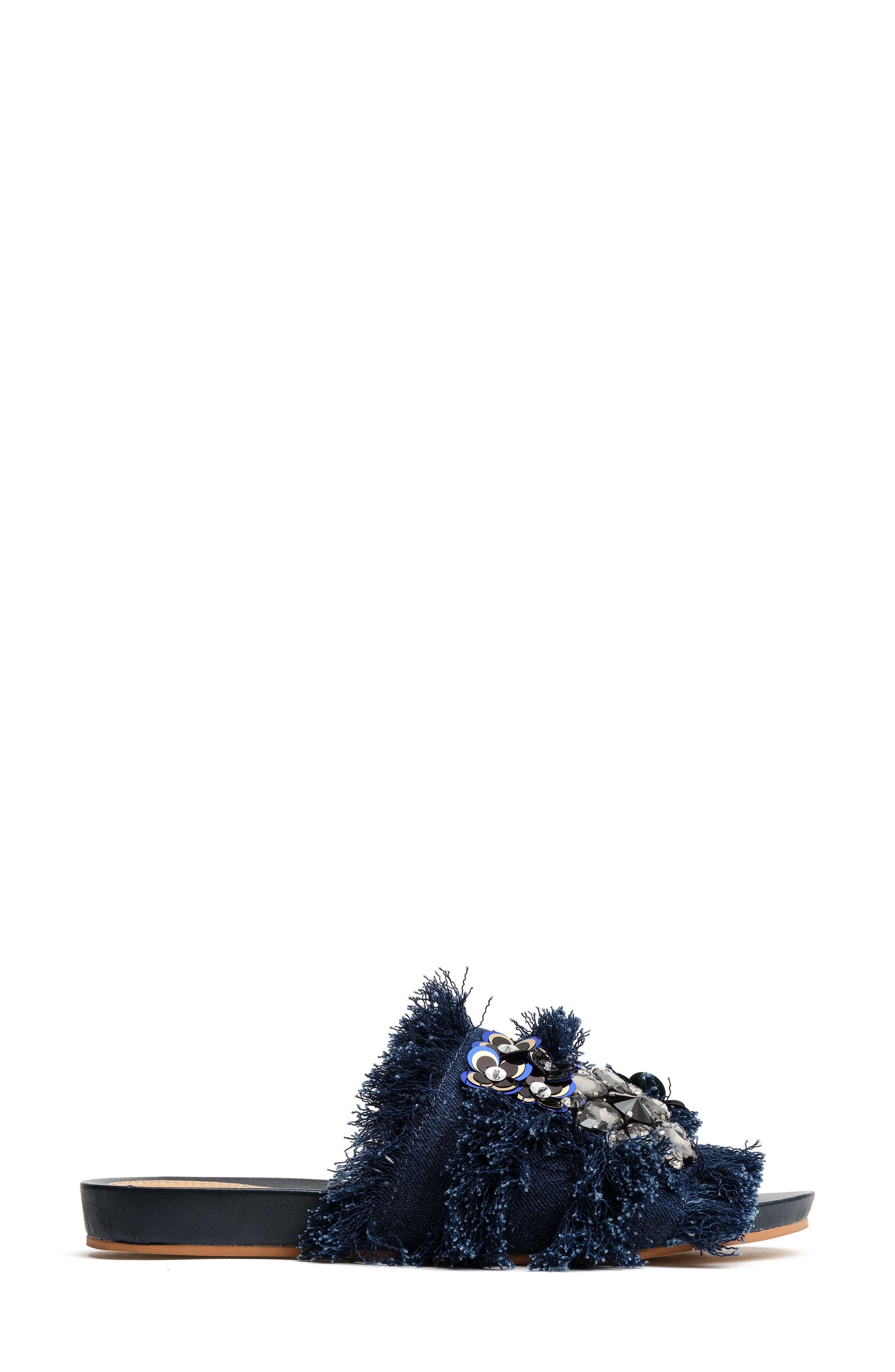 Megan Embellished Slide,                             Alternate thumbnail 3, color,                             411