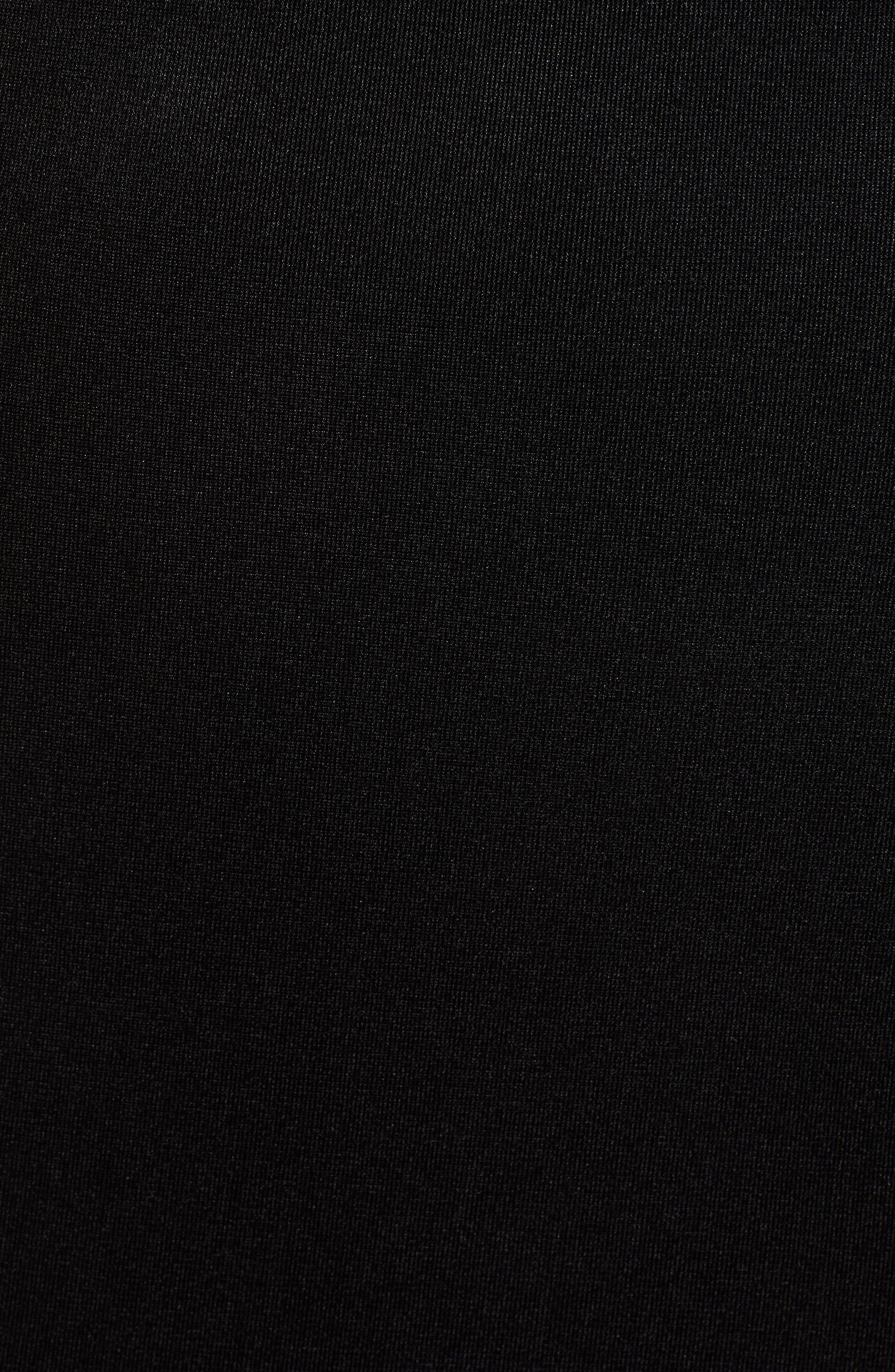 Side Illusion Sleeveless Sheath Dress,                             Alternate thumbnail 6, color,                             BLACK