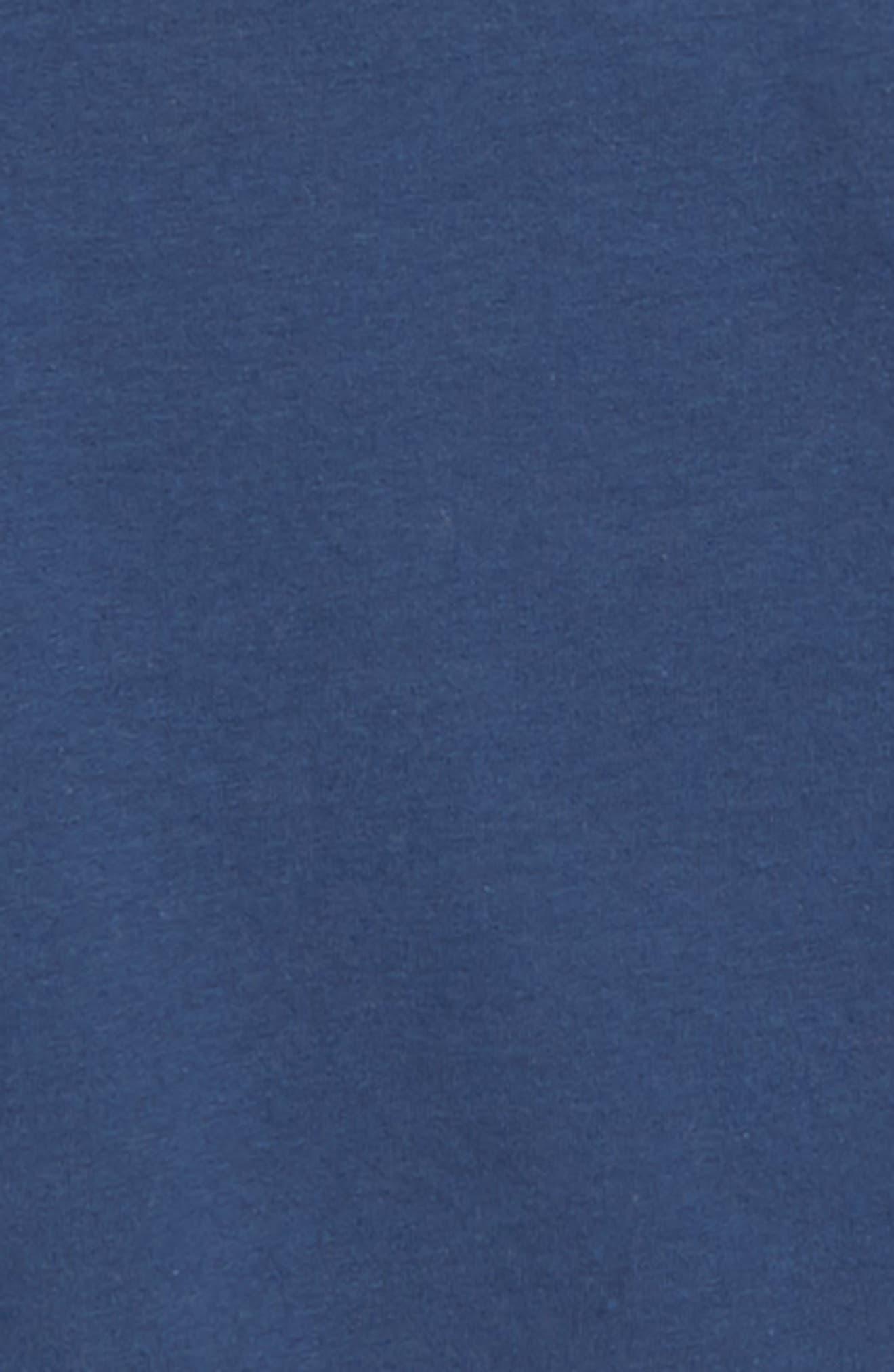 Fleece Flare Sleeve Top,                             Alternate thumbnail 2, color,                             NAVY DENIM