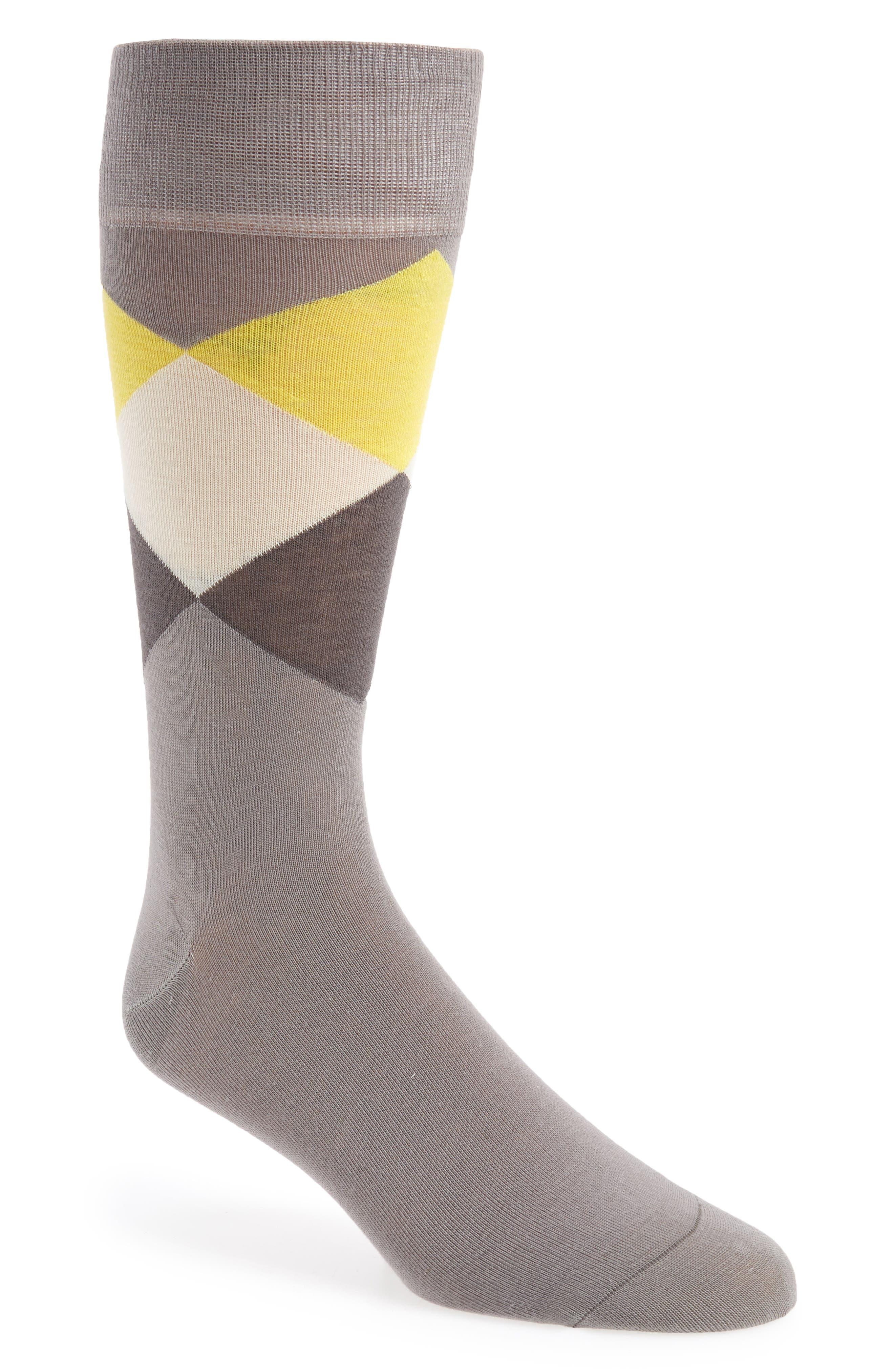 Large Diamond Crew Socks,                         Main,                         color, 030