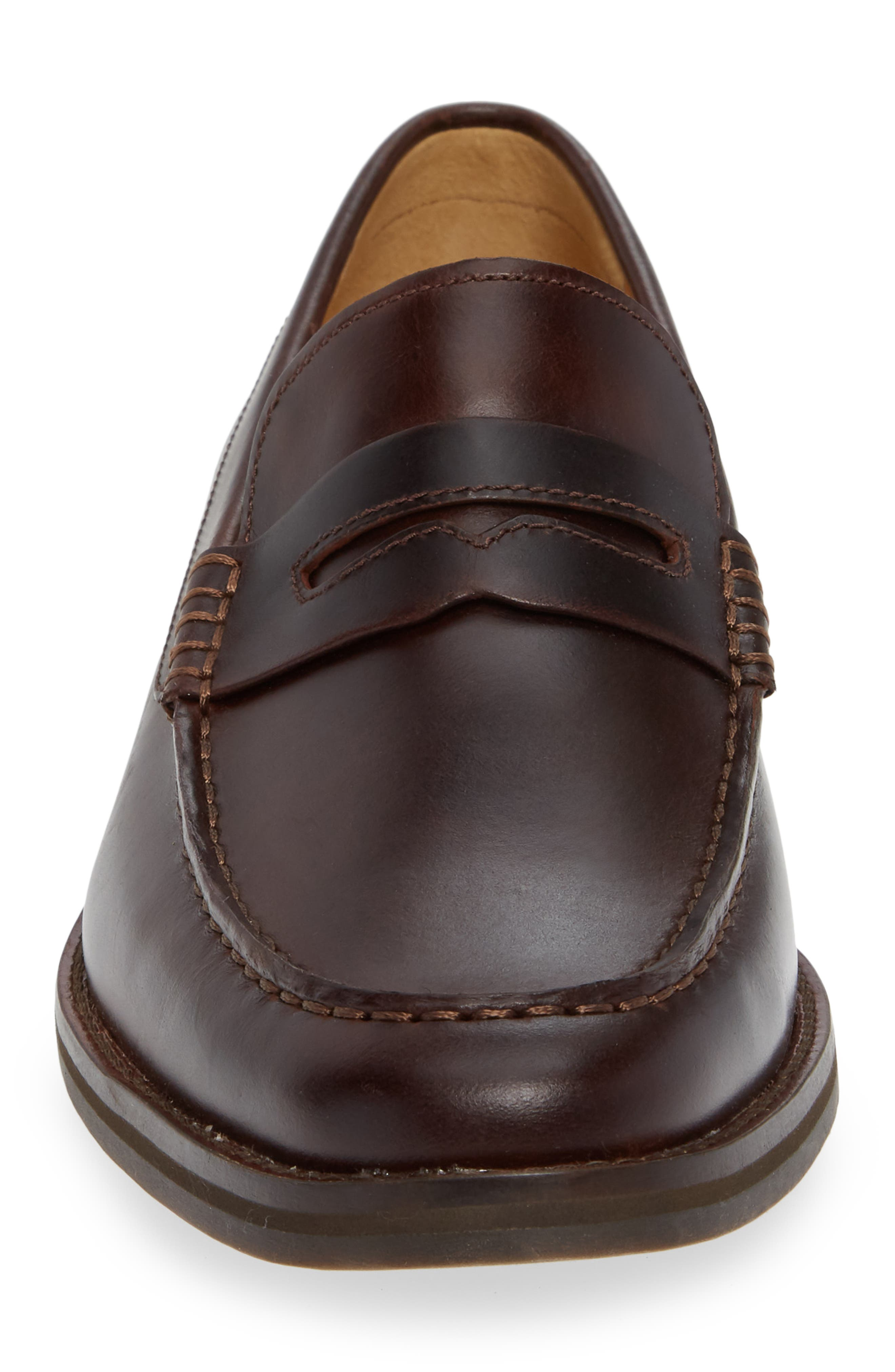 Gold Cup Exeter Penny Loafer,                             Alternate thumbnail 4, color,                             AMARETTO