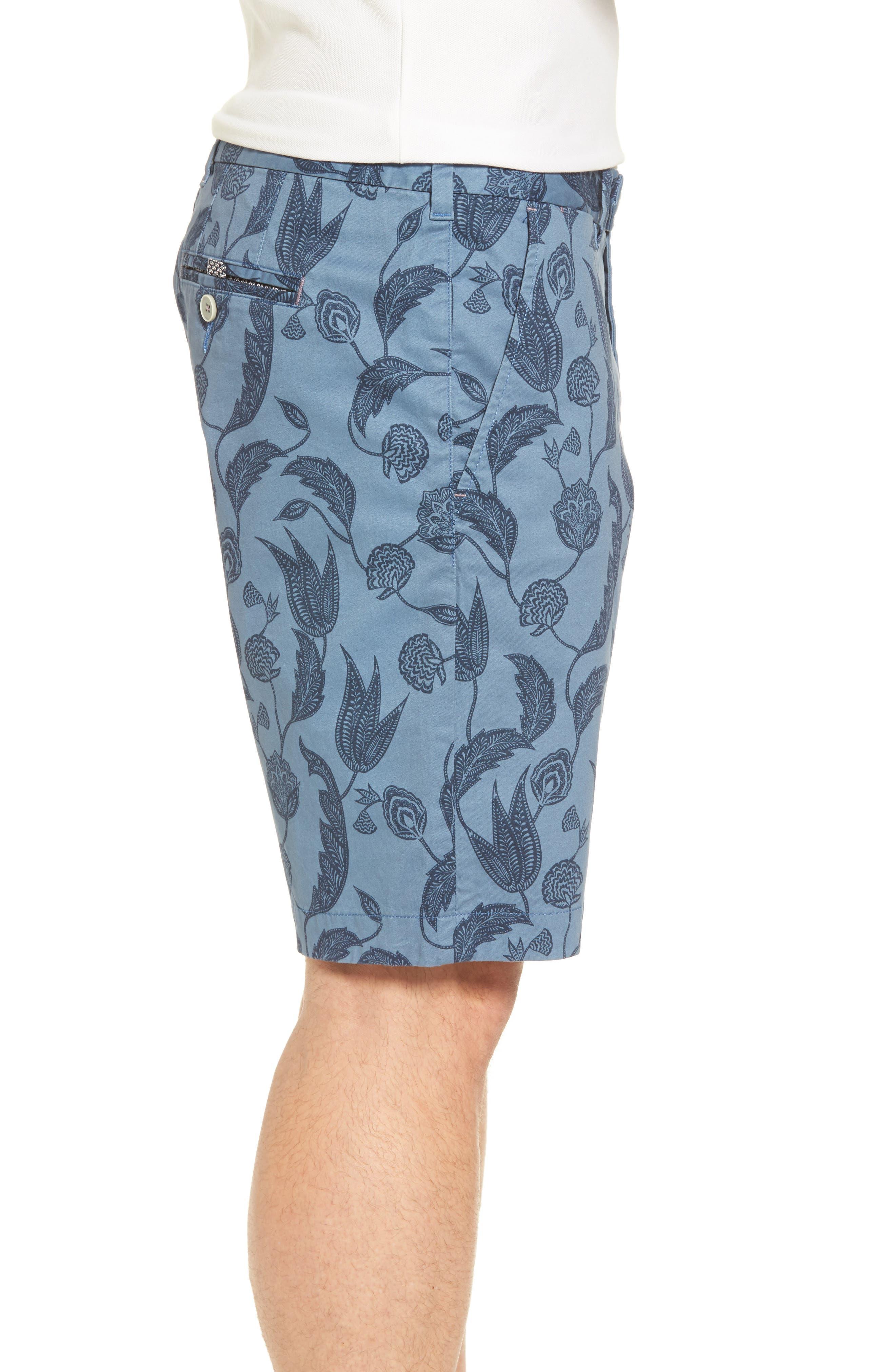 Uniprin Trim Fit Floral Golf Shorts,                             Alternate thumbnail 3, color,                             430