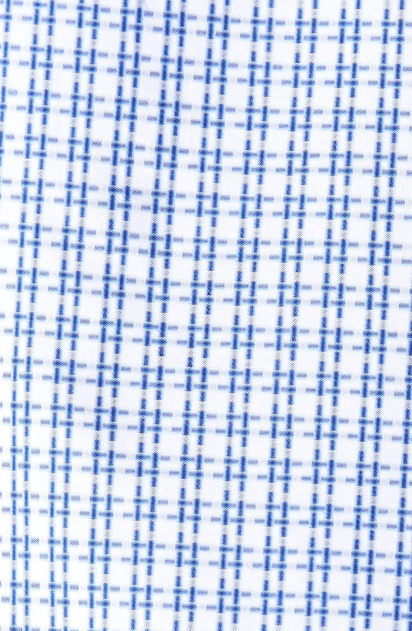 Double Stripe Classic Fit Sport Shirt,                             Alternate thumbnail 5, color,                             NAVY