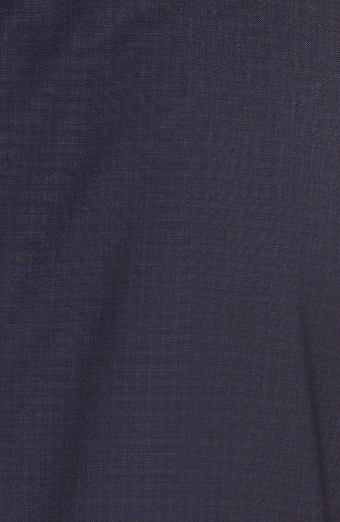 Roger Trim Fit Check Wool Suit,                             Alternate thumbnail 7, color,                             410