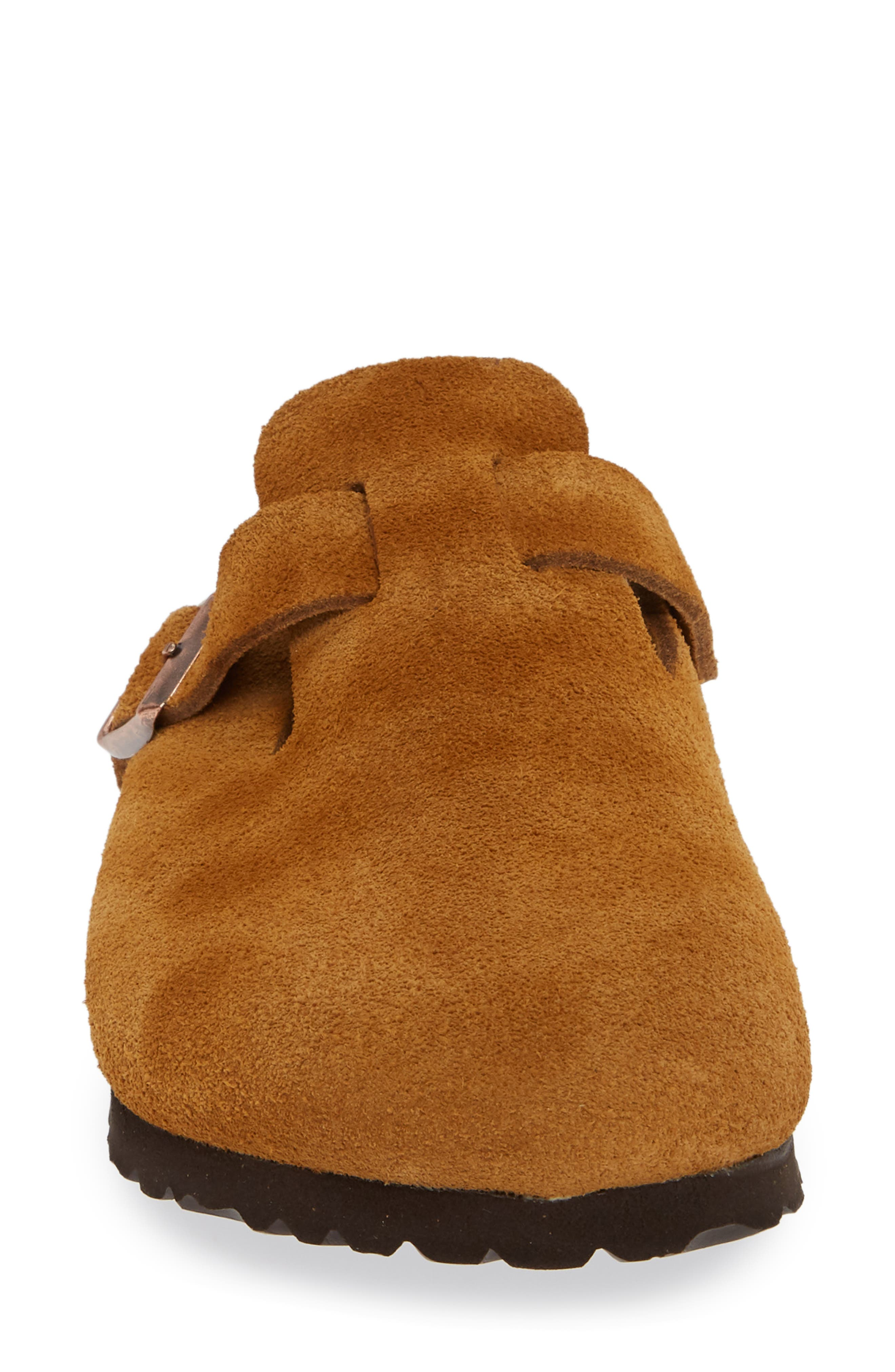 'Boston' Soft Footbed Clog,                             Alternate thumbnail 4, color,                             MINK SUEDE