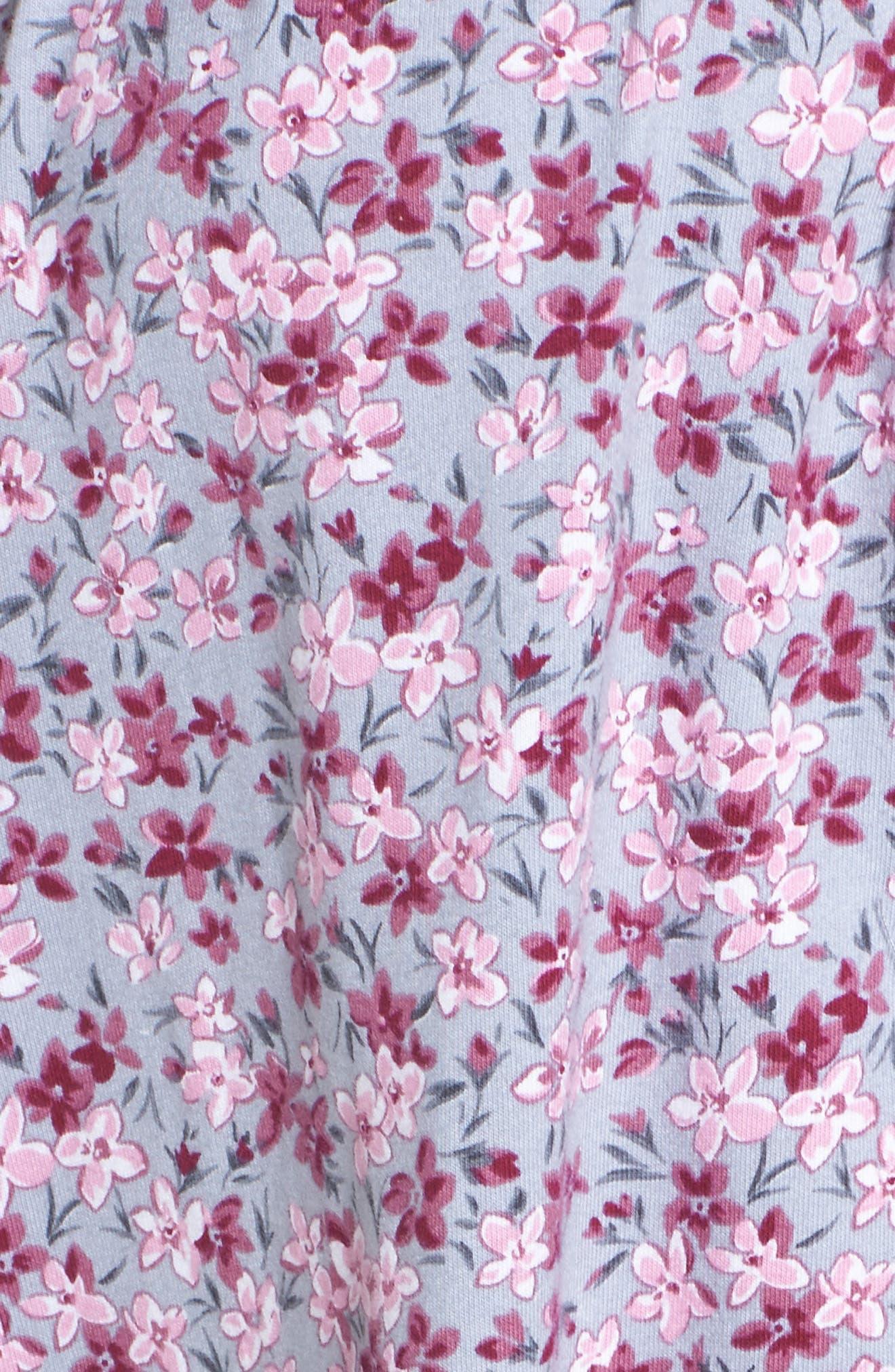 Floral Print Waltz Nightgown,                             Alternate thumbnail 5, color,                             020