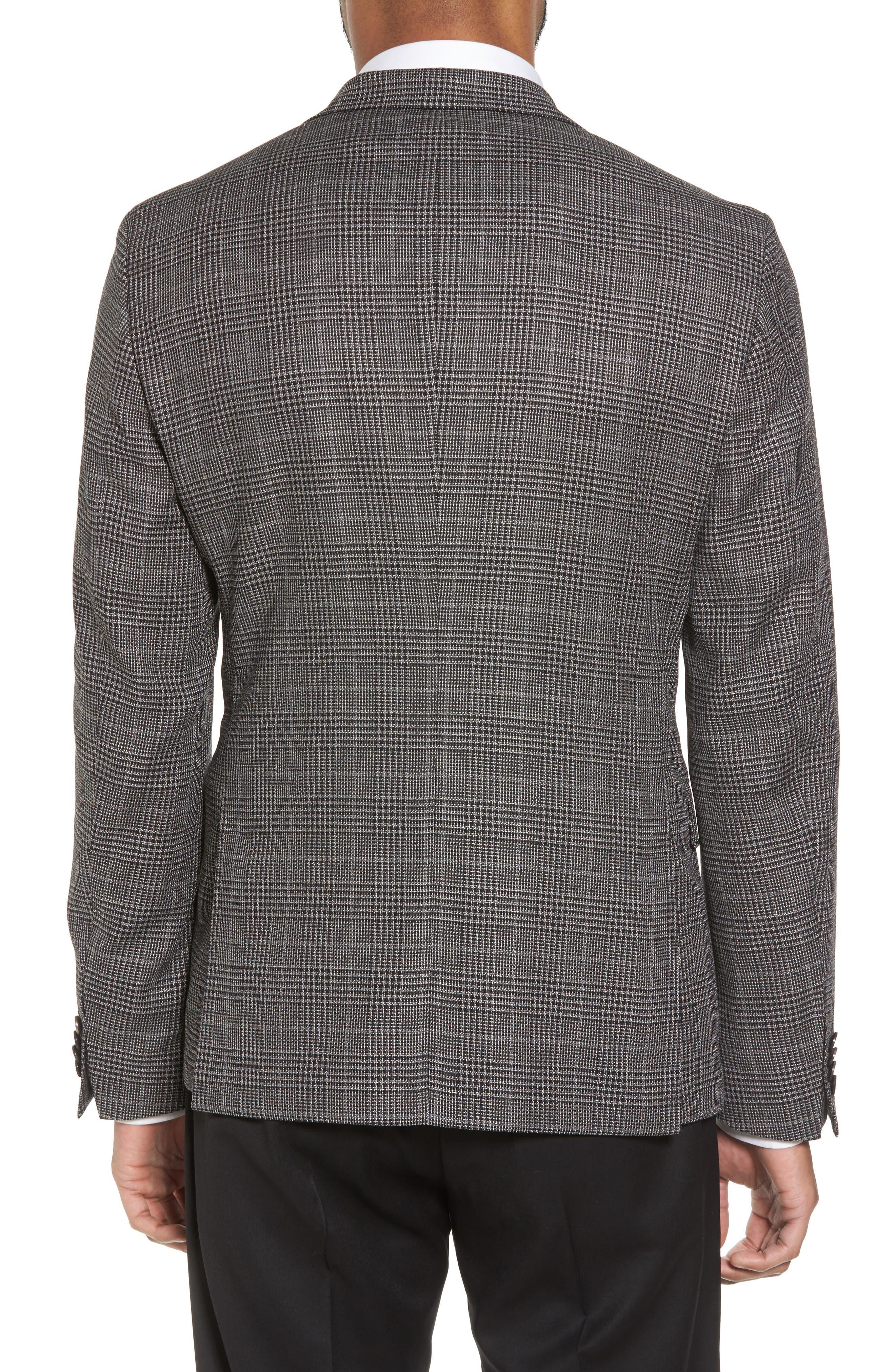 Nobis Trim Fit Plaid Wool & Silk Blend Sport Coat,                             Alternate thumbnail 2, color,                             OPEN GREY