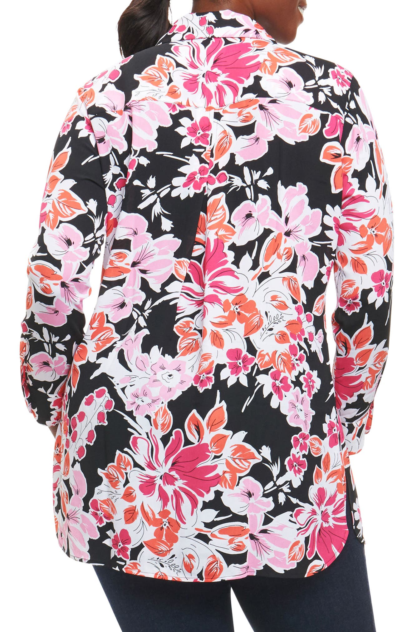 Jade Blooming Floral Tunic,                             Alternate thumbnail 2, color,                             660