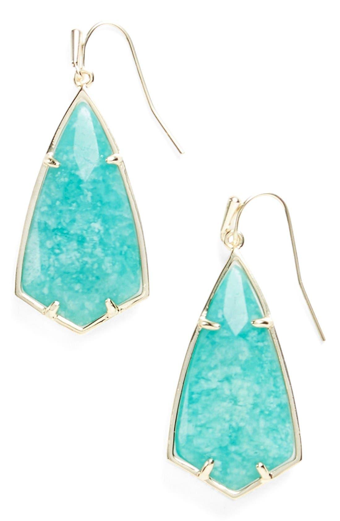 Carla Semiprecious Stone Drop Earrings,                             Main thumbnail 6, color,