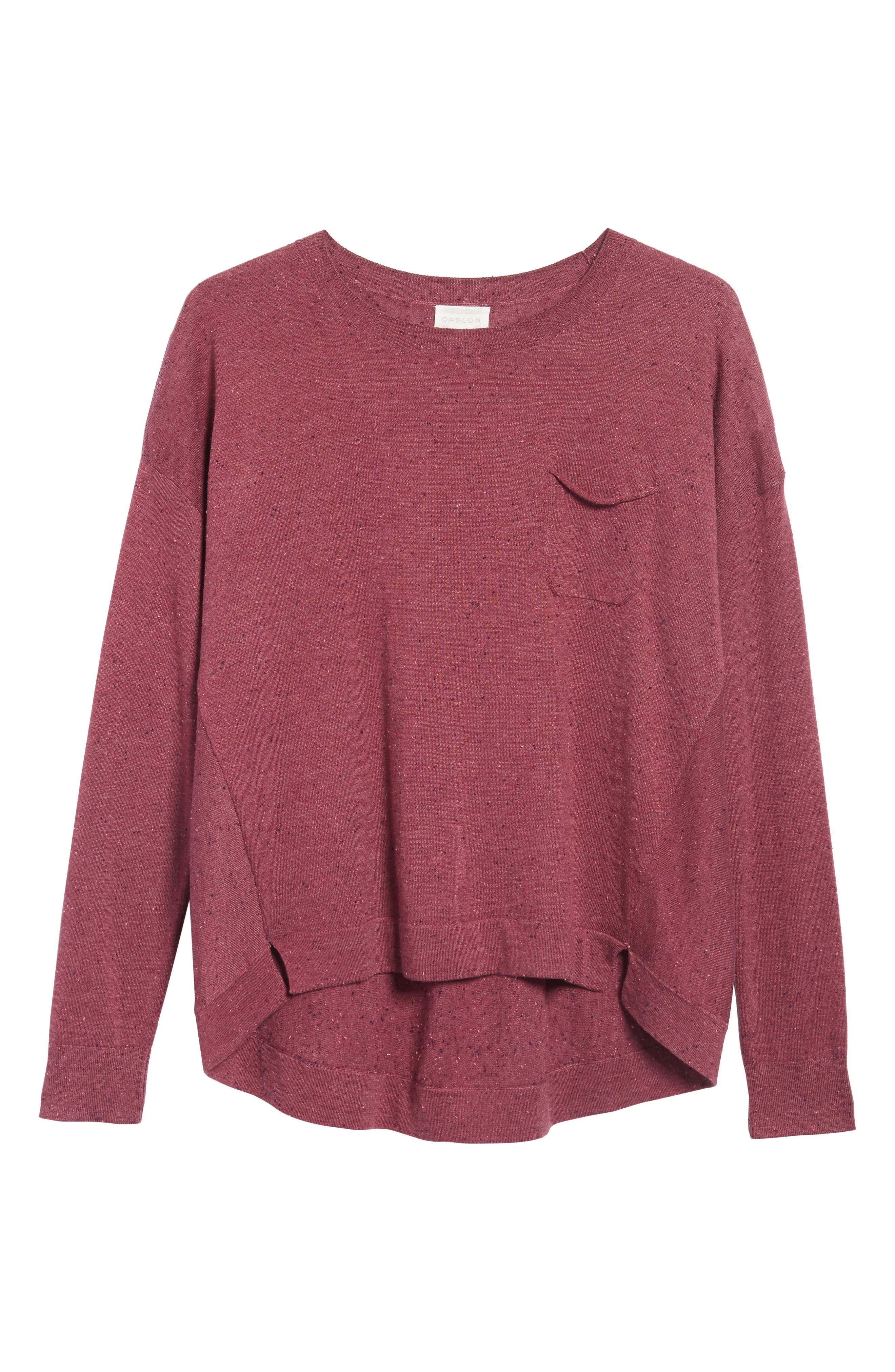 Pleat Back High/Low Crewneck Sweater,                             Alternate thumbnail 39, color,