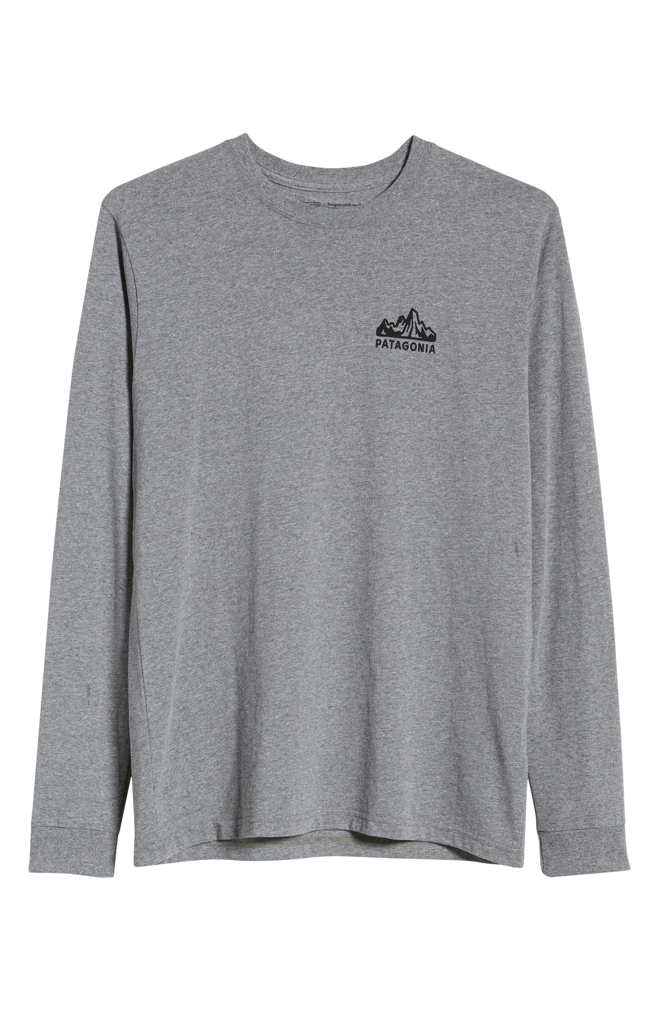Fitz Roy Scope Long Sleeve Responsibili-Tee T-Shirt,                             Alternate thumbnail 6, color,                             GRAVEL HEATHER