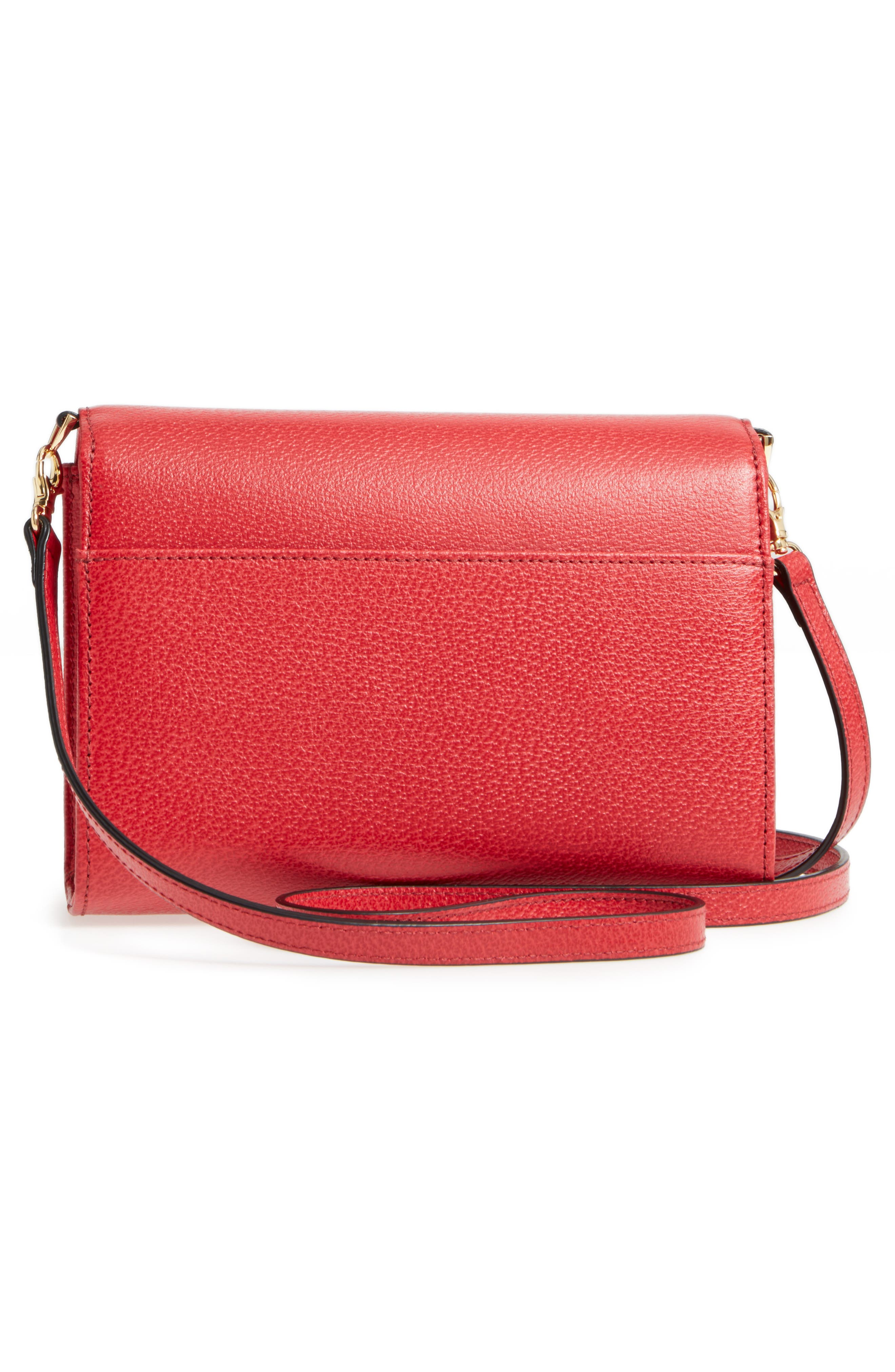 LODIS Stephanie Under Lock & Key - Small Eden Leather Crossbody Bag,                             Alternate thumbnail 3, color,                             600