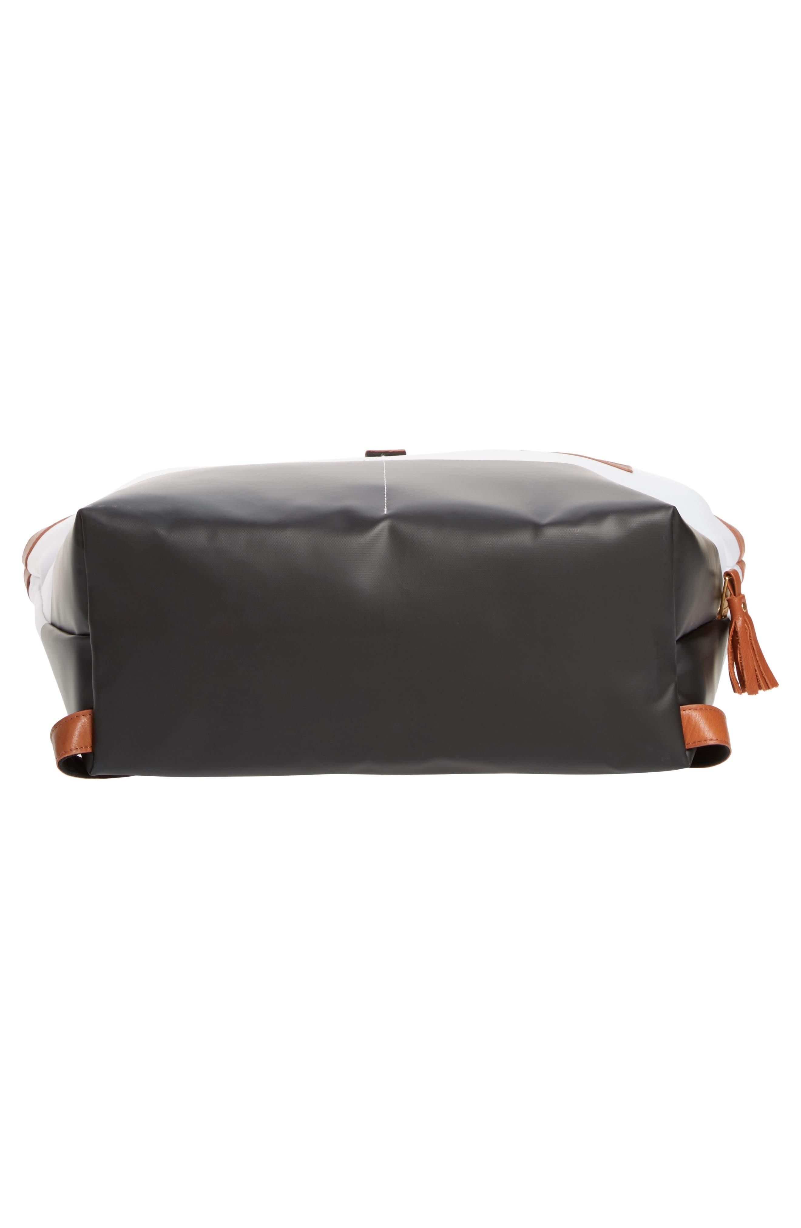 x Rachel Zoe 'Jet Set' Canvas Diaper Bag,                             Alternate thumbnail 6, color,                             100