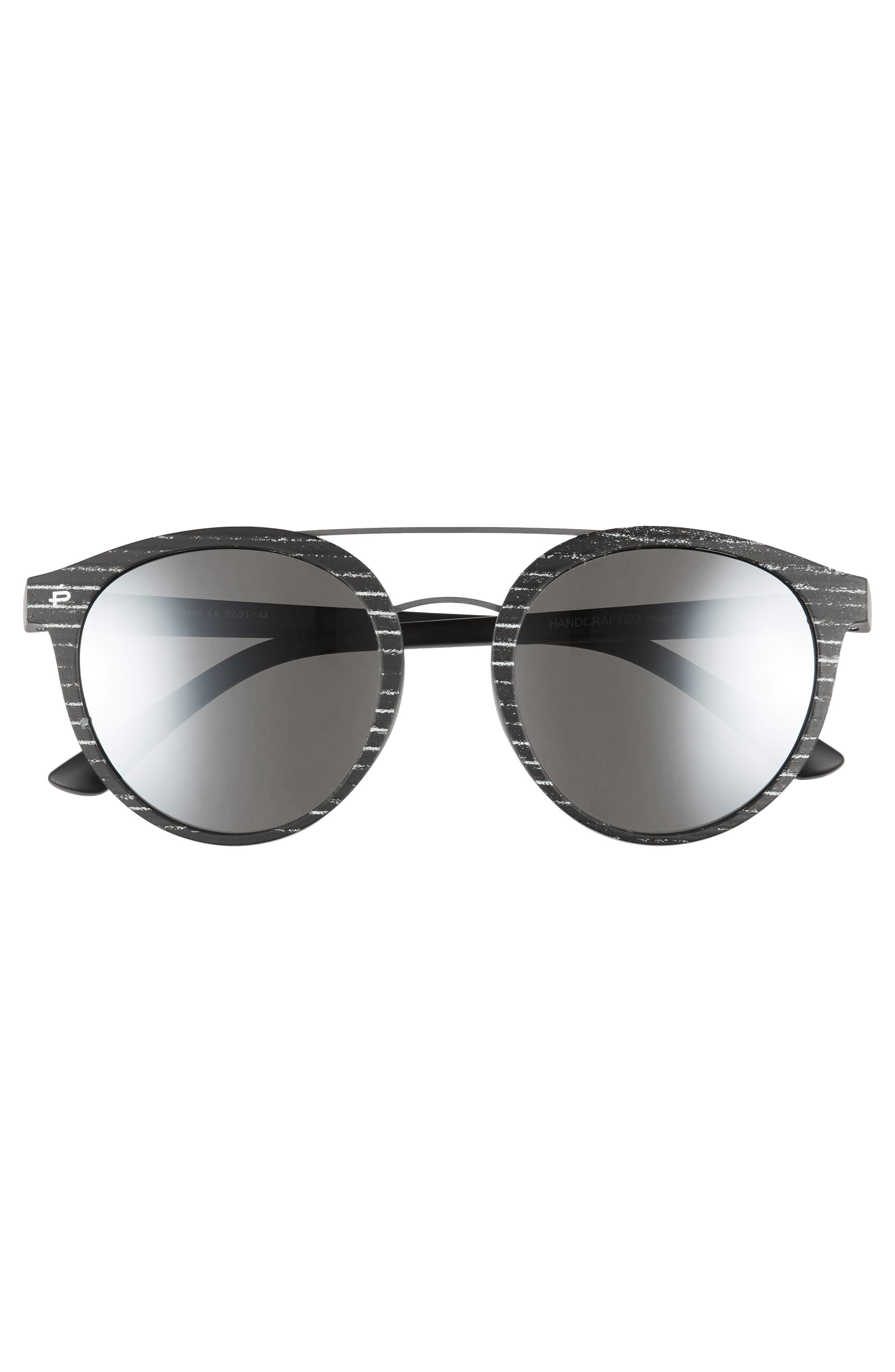 Privé Revaux The Texan 52mm Sunglasses,                             Alternate thumbnail 3, color,                             MATTE BLACK / PAPER