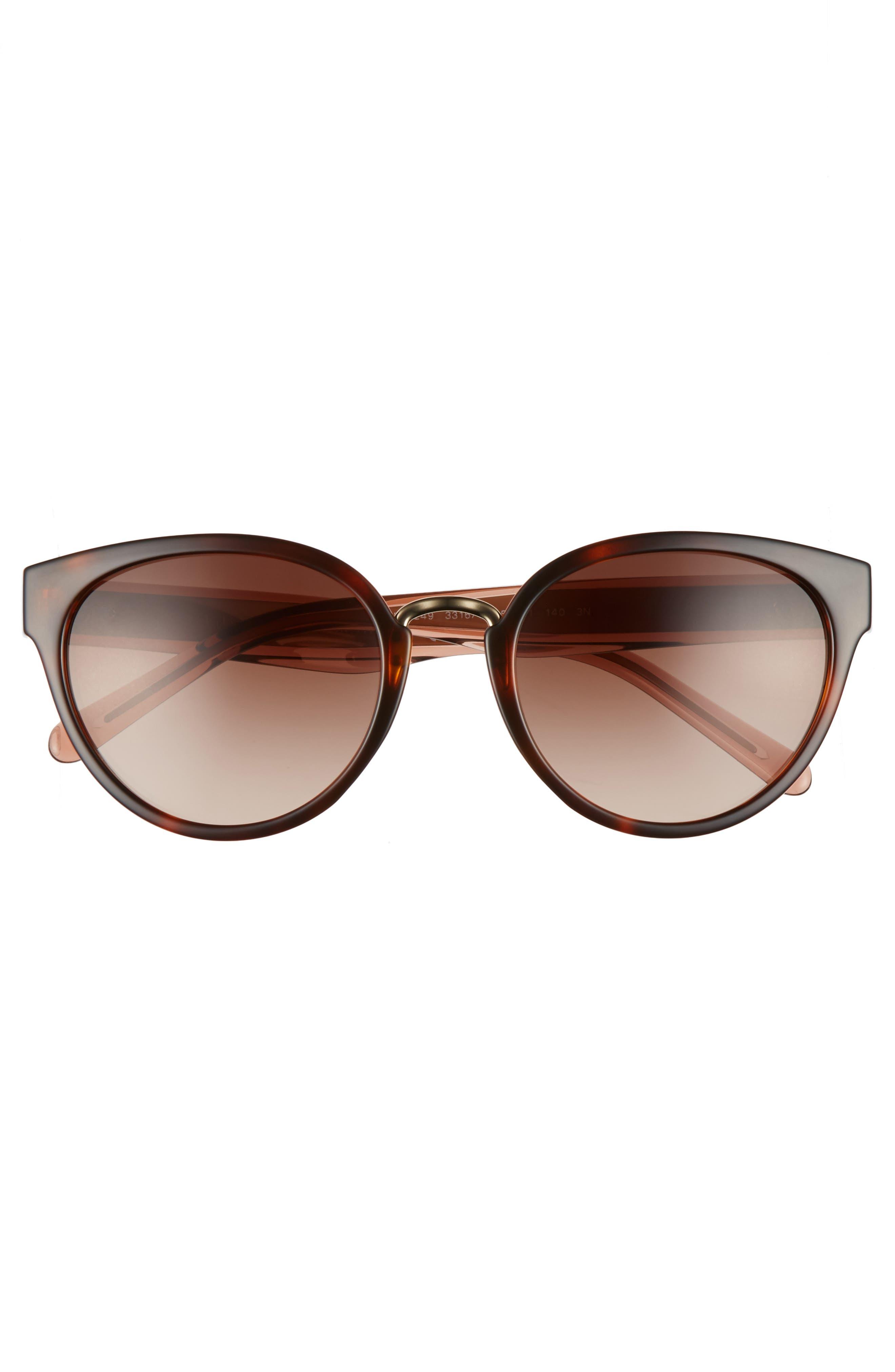 53mm Gradient Cat Eye Sunglasses,                             Alternate thumbnail 10, color,