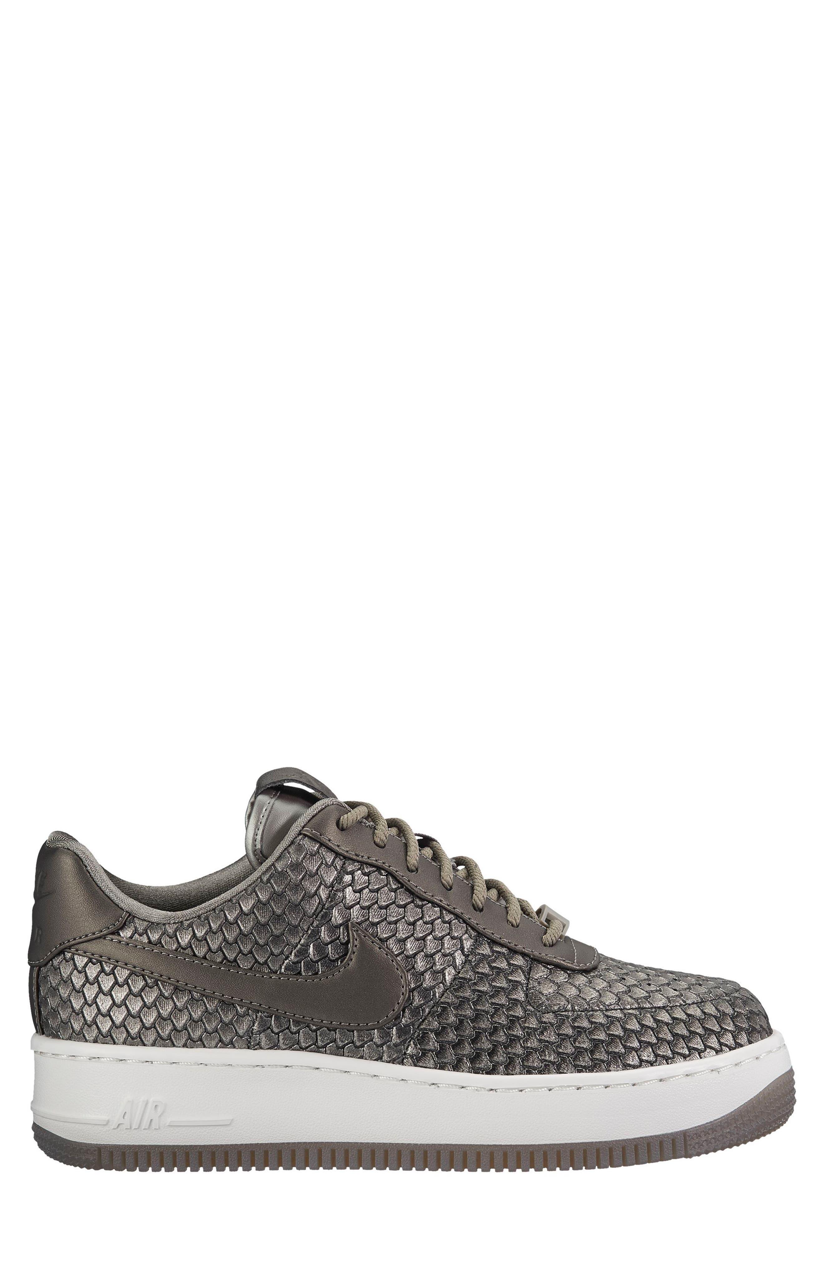 Air Force 1 Upstep Premium Platform Sneaker,                             Alternate thumbnail 3, color,                             022