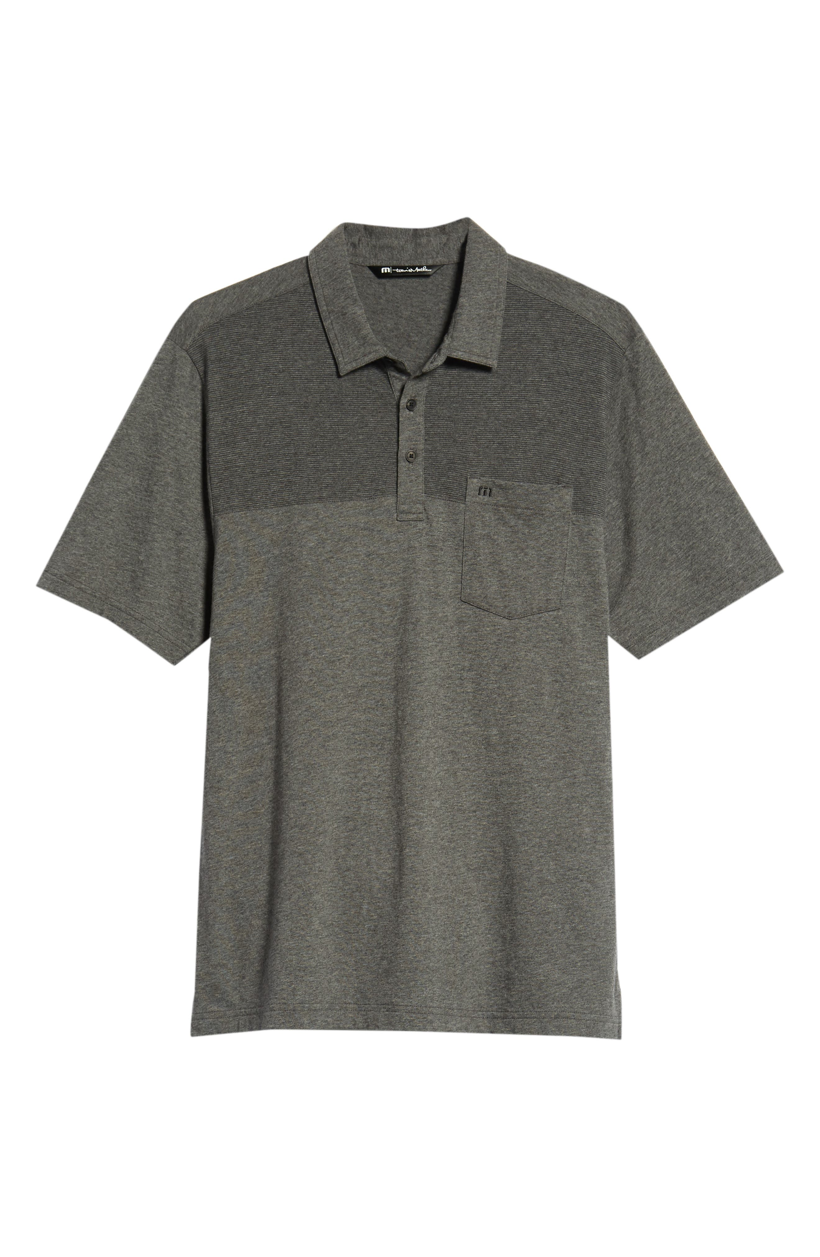A Bomb Jersey Polo,                             Alternate thumbnail 6, color,                             HEATHER DARK GREY
