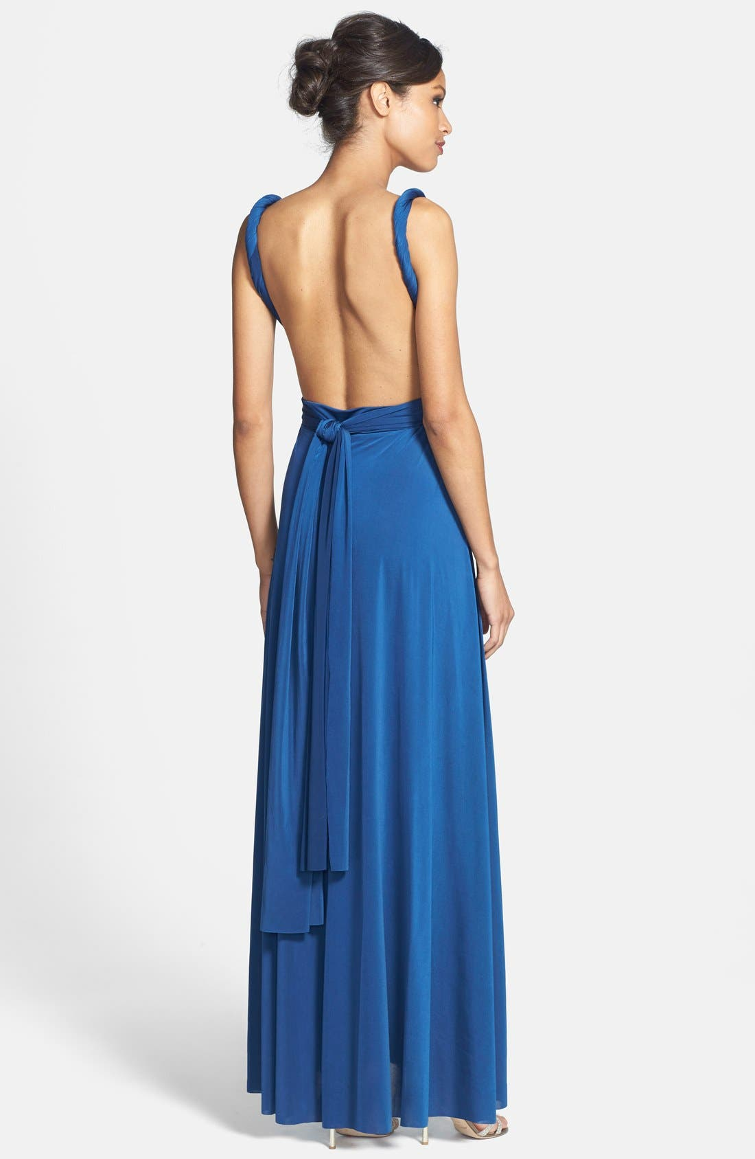 Convertible Wrap Tie Surplice Jersey Gown,                             Alternate thumbnail 39, color,