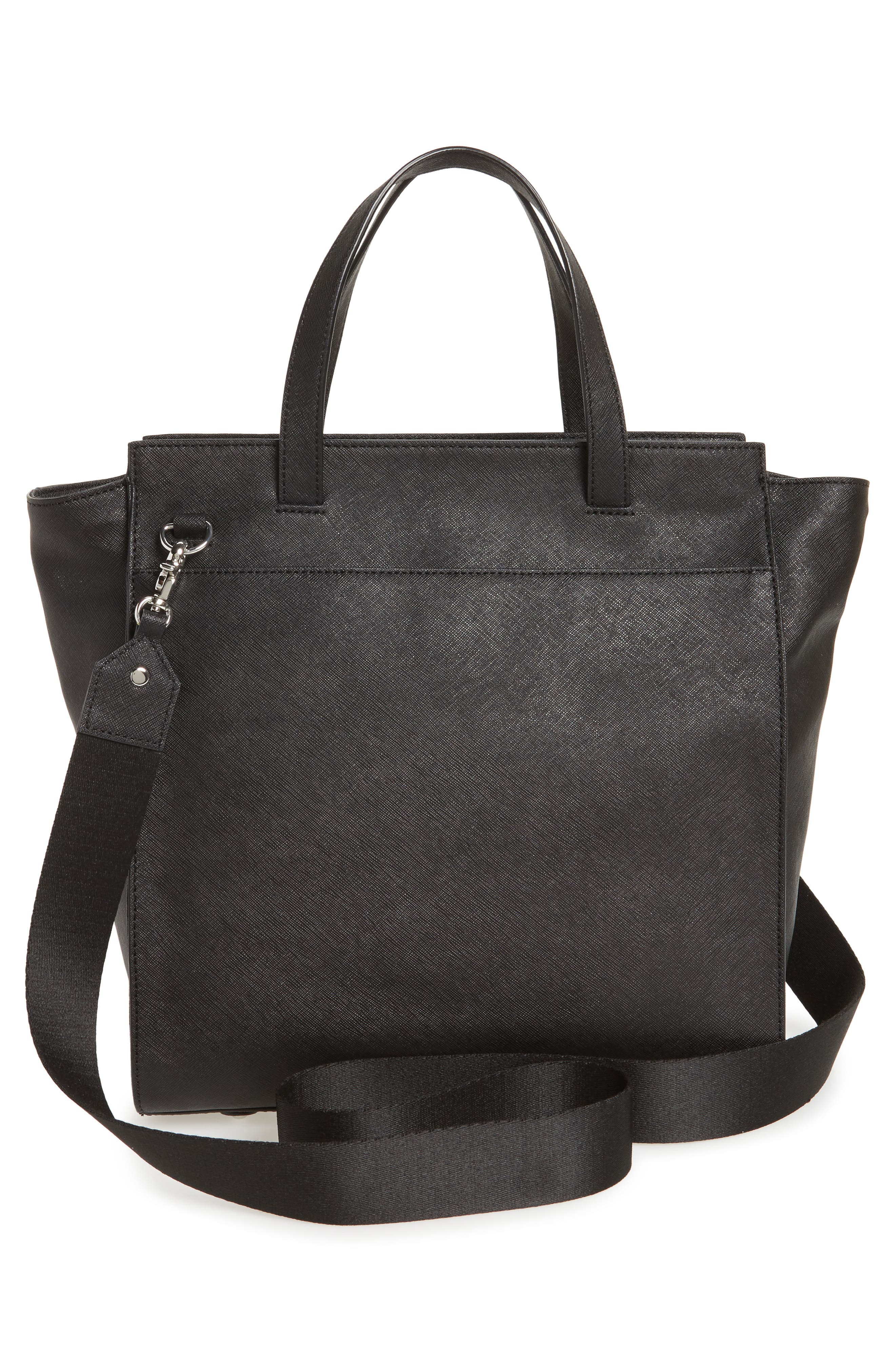 Jagger Leather Tote,                             Alternate thumbnail 4, color,                             001