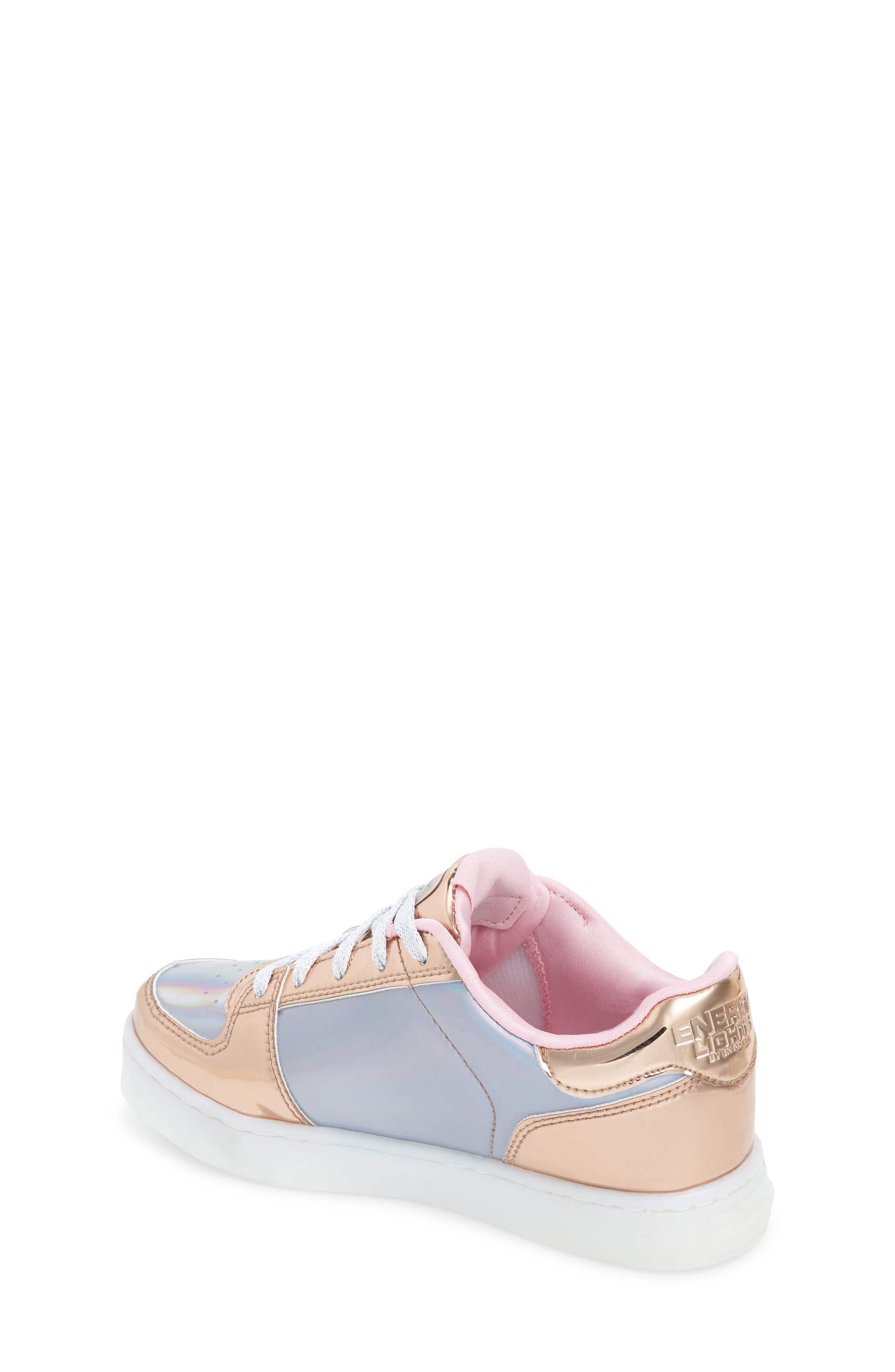 SKECHERS,                             Energy Lights Shiny Light-Up Sneaker,                             Alternate thumbnail 2, color,                             222