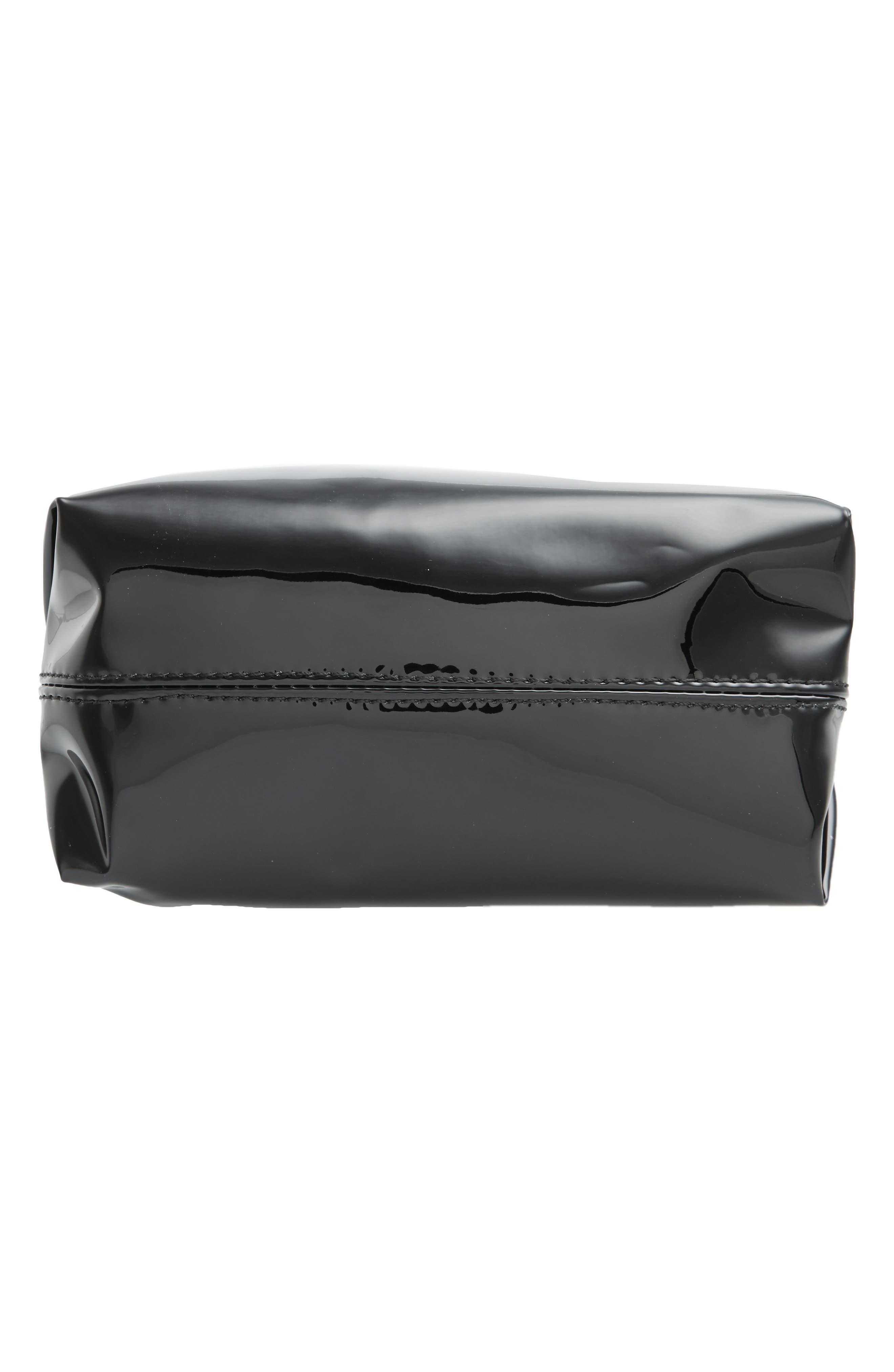 Metallic Cosmetics Bag,                             Alternate thumbnail 5, color,                             001