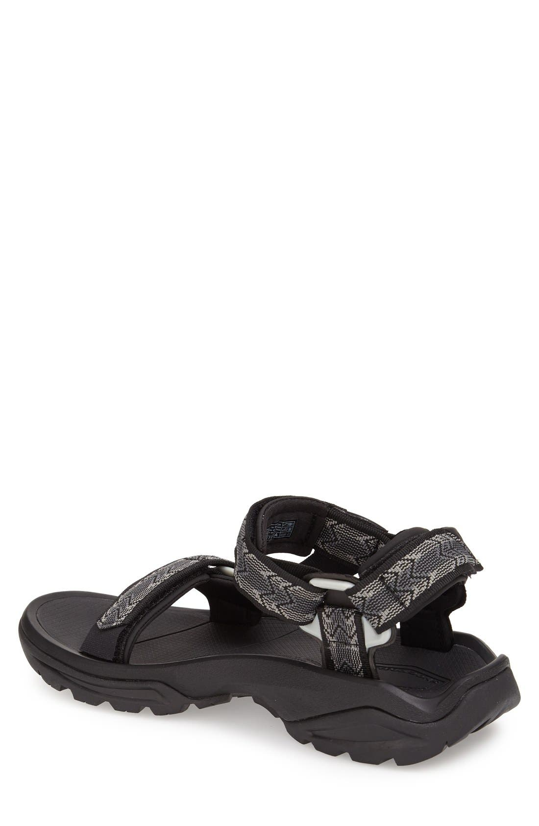 'Terra Fi 4' Sandal,                             Alternate thumbnail 6, color,                             CROSS TERRA BLACK