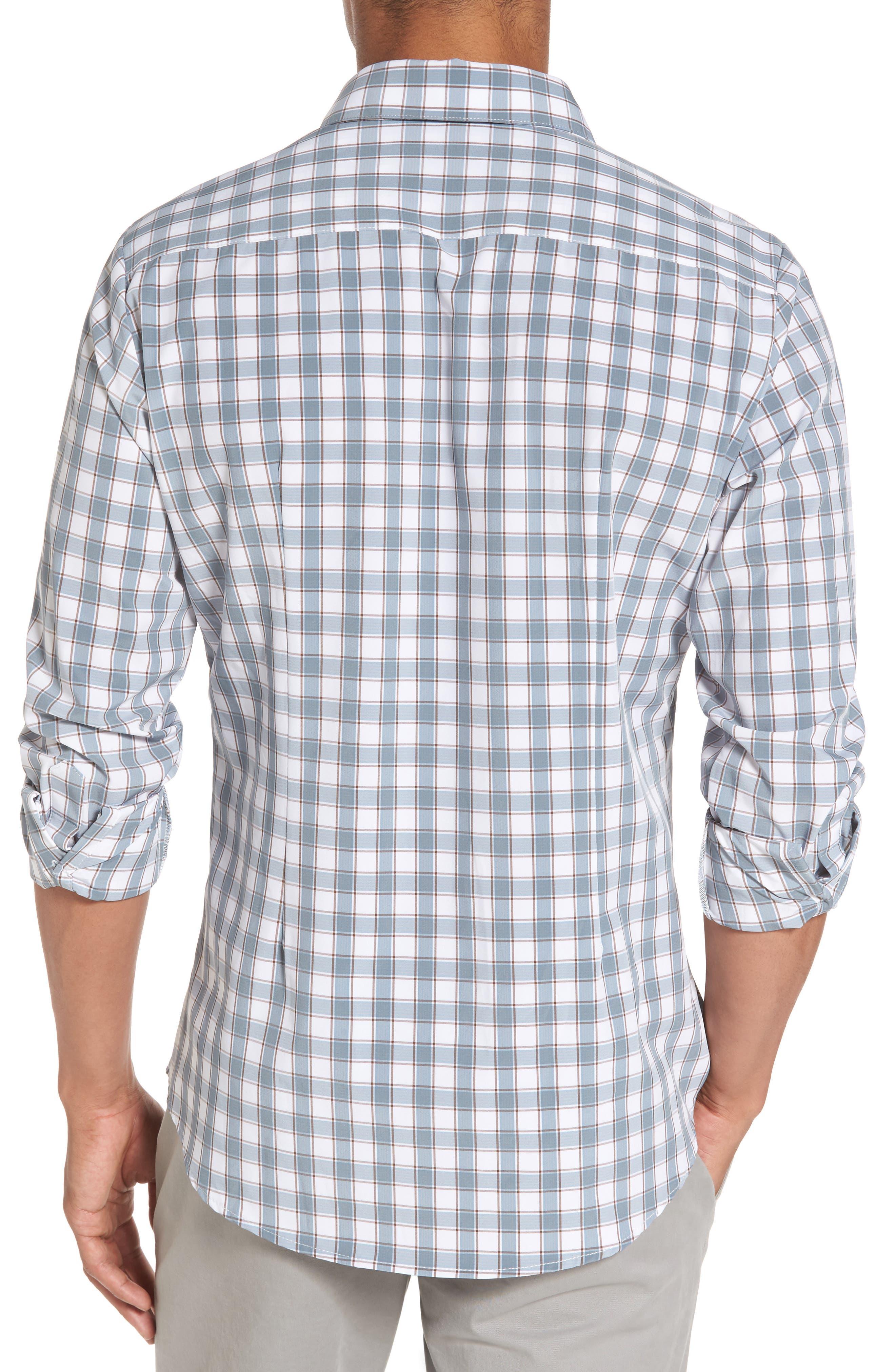 Covington Blue Shadow & Toffee Check Sport Shirt,                             Alternate thumbnail 2, color,                             400