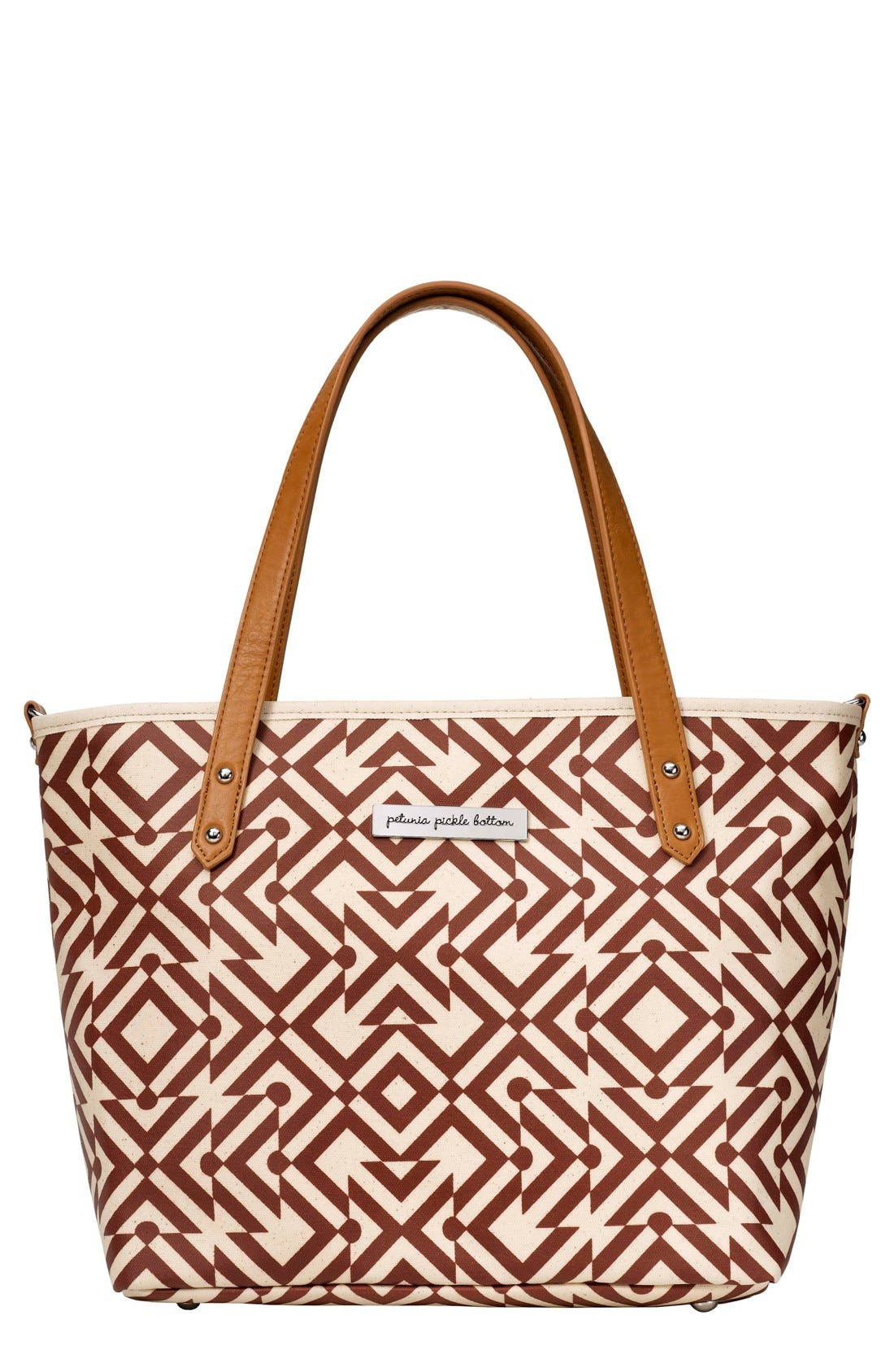 'Downtown Mini' Coated Canvas Diaper Tote,                             Main thumbnail 7, color,