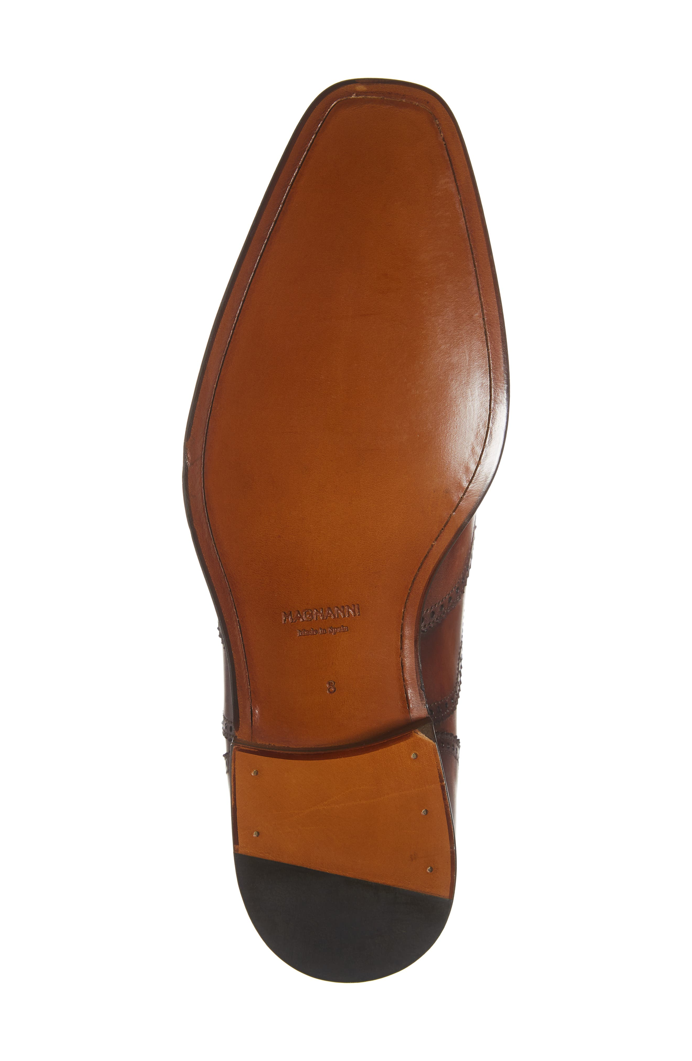 Ledger Wingtip,                             Alternate thumbnail 6, color,                             COGNAC LEATHER