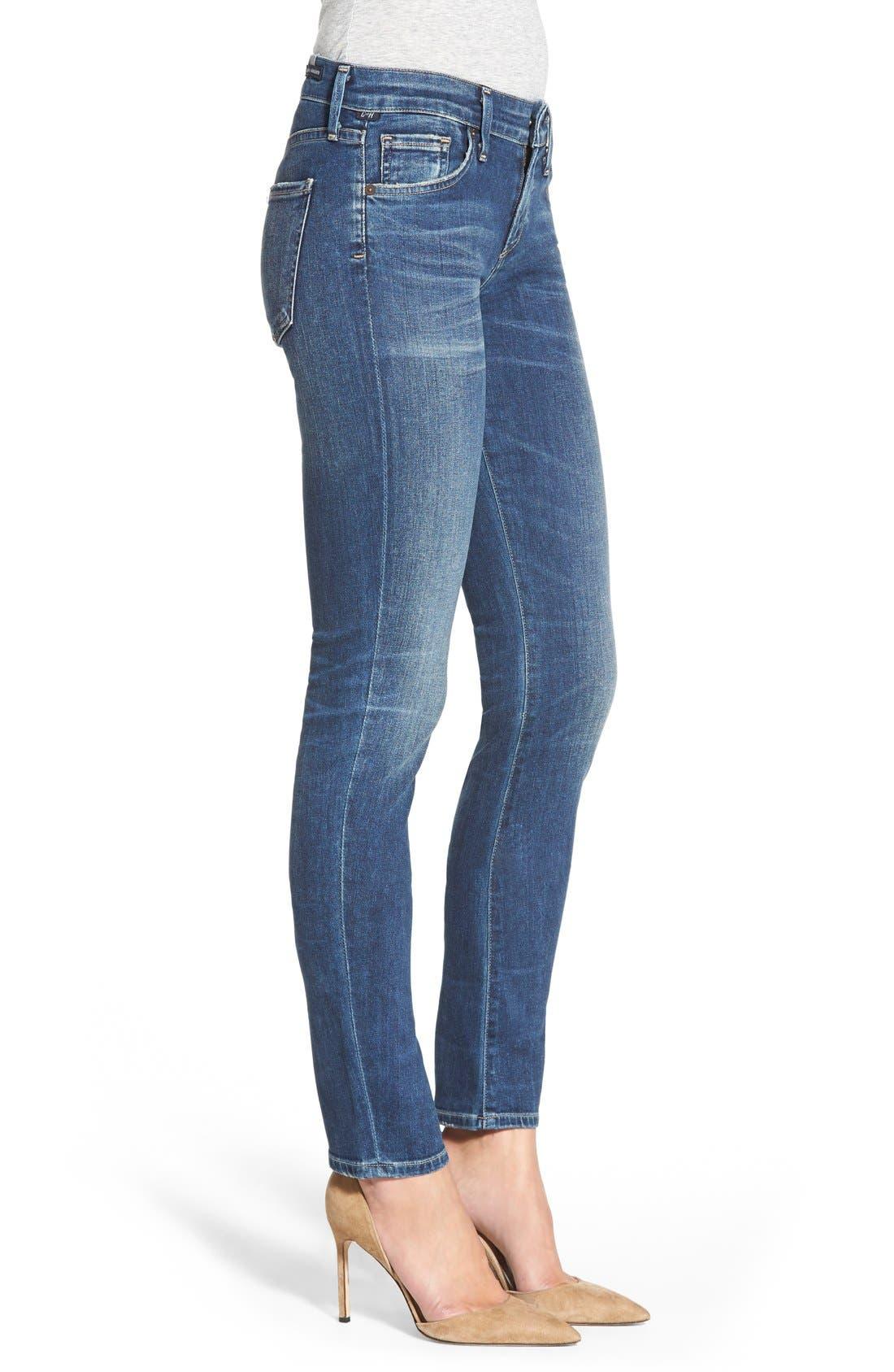 'Arielle' Skinny Jeans,                             Alternate thumbnail 3, color,                             400