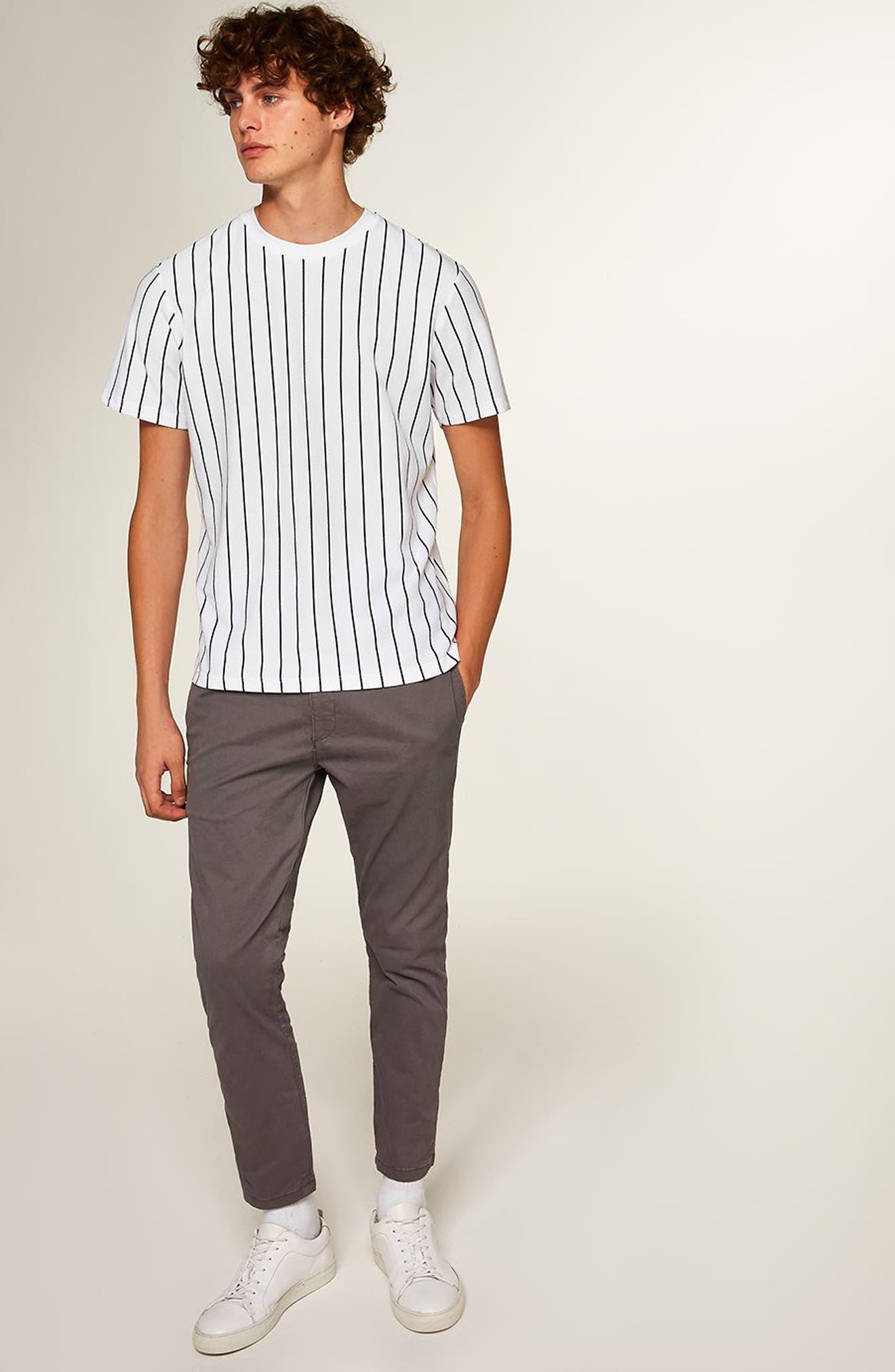 Stripe T-Shirt,                             Alternate thumbnail 5, color,                             WHITE MULTI