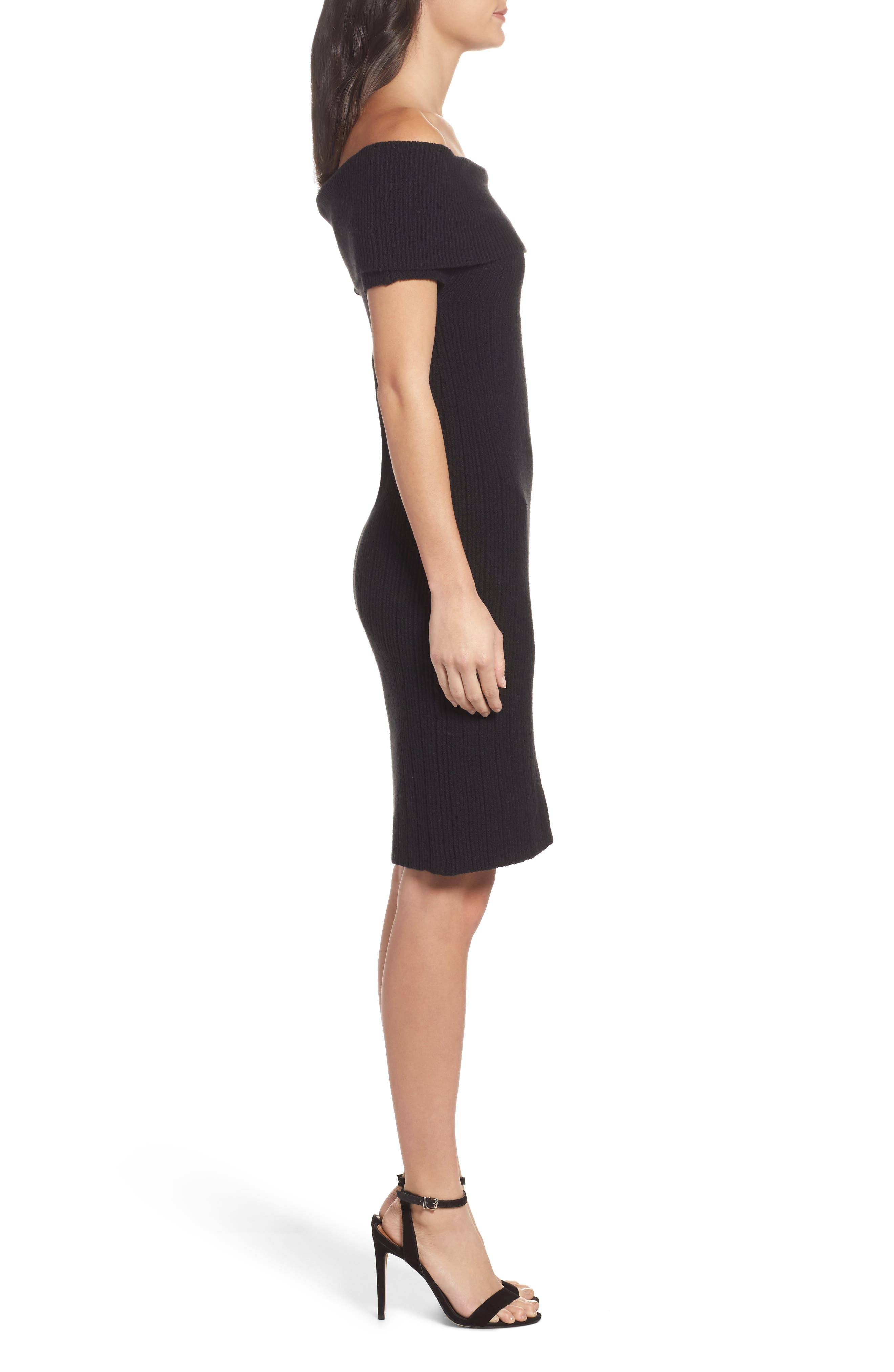 Porter Off the Shoulder Sheath Dress,                             Alternate thumbnail 5, color,