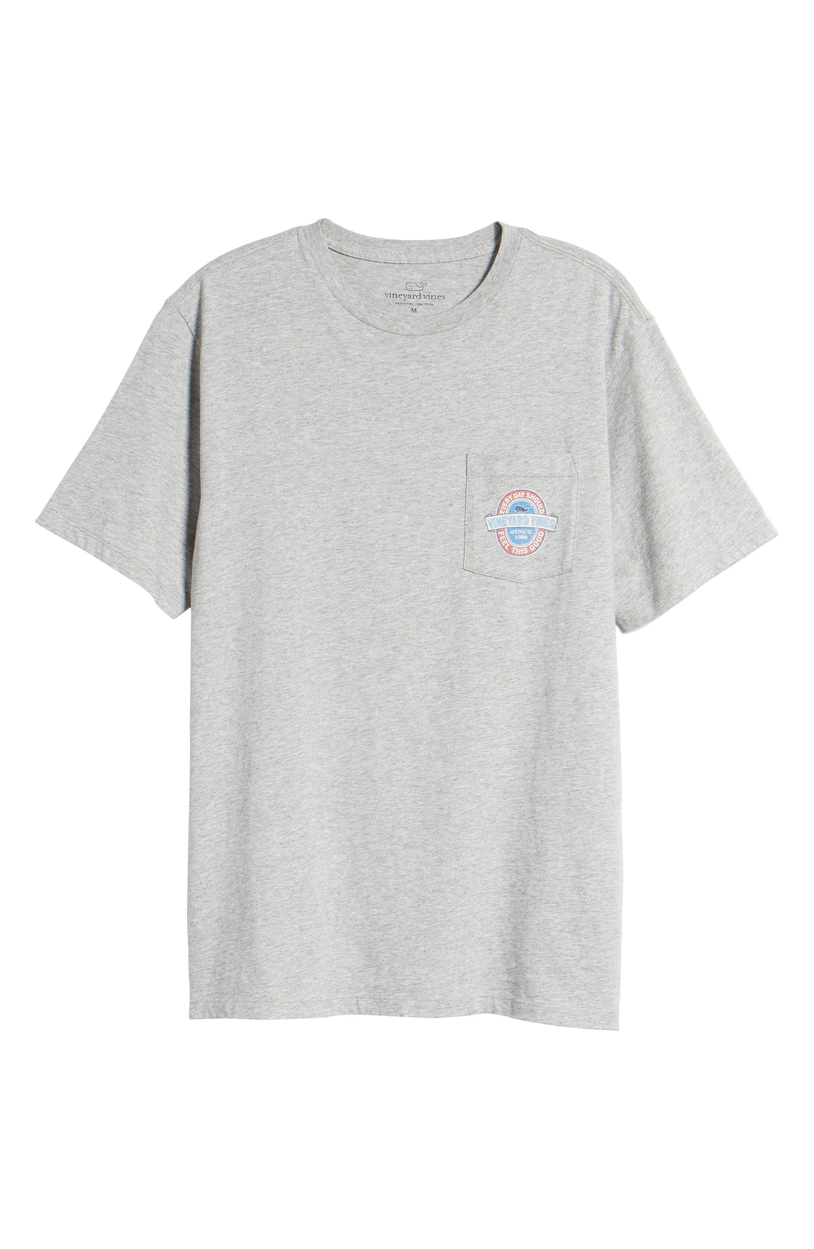 Everyday Pocket T-Shirt,                             Alternate thumbnail 6, color,                             GREY HEATHER