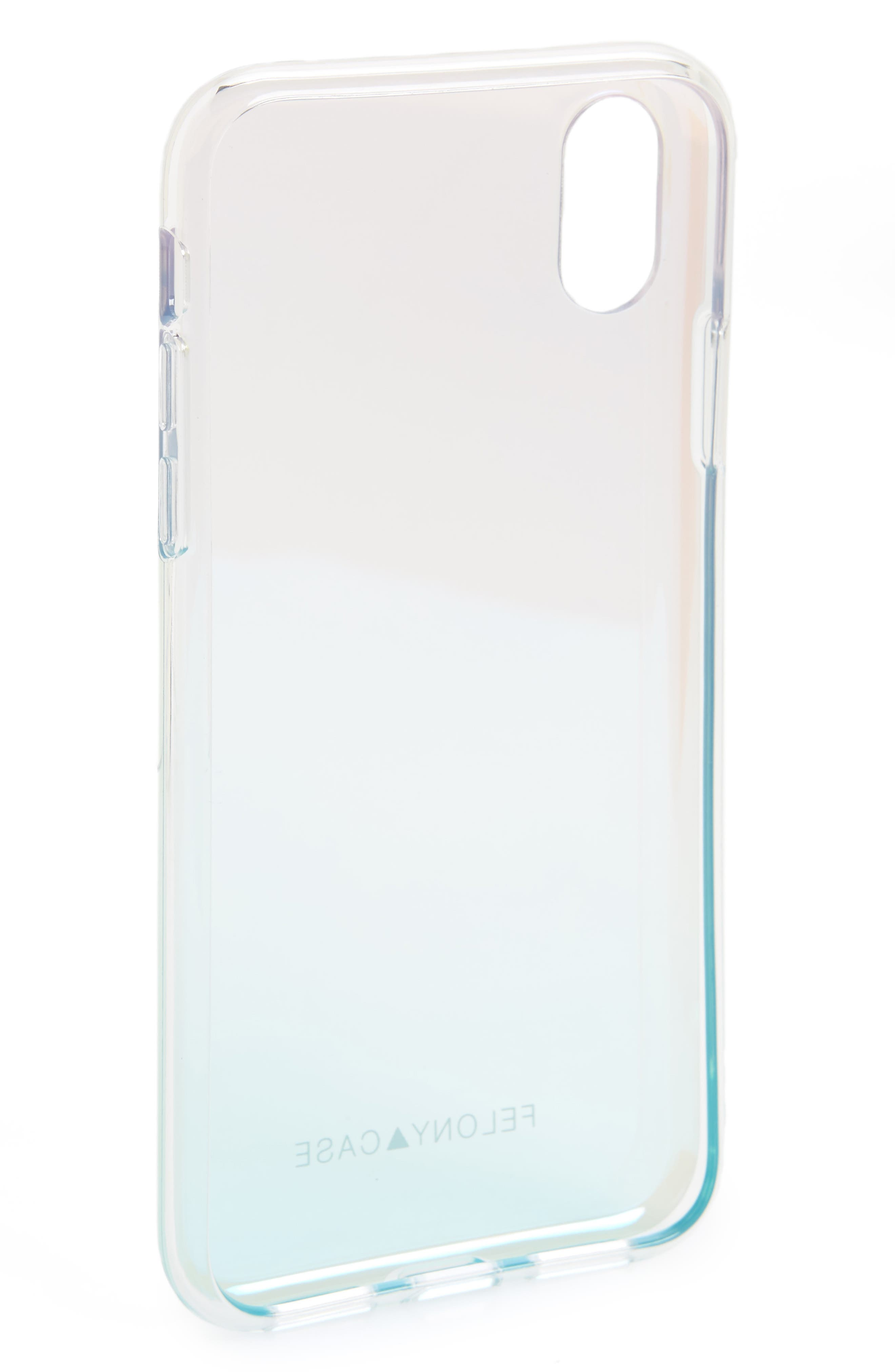 Holographic iPhone X Case,                             Alternate thumbnail 2, color,                             040