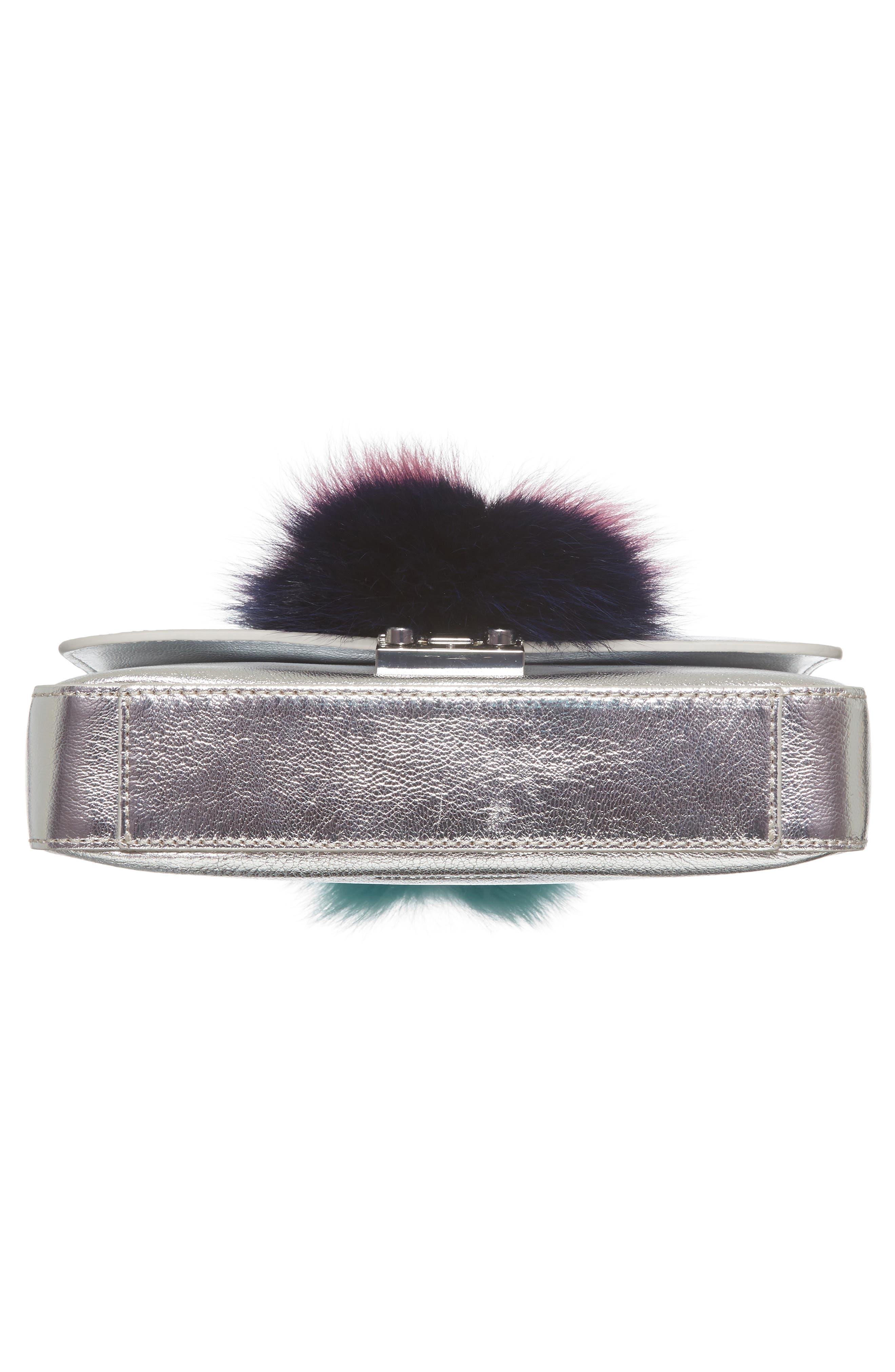 Lock Genuine Fox Fur Shoulder Bag,                             Alternate thumbnail 6, color,                             049
