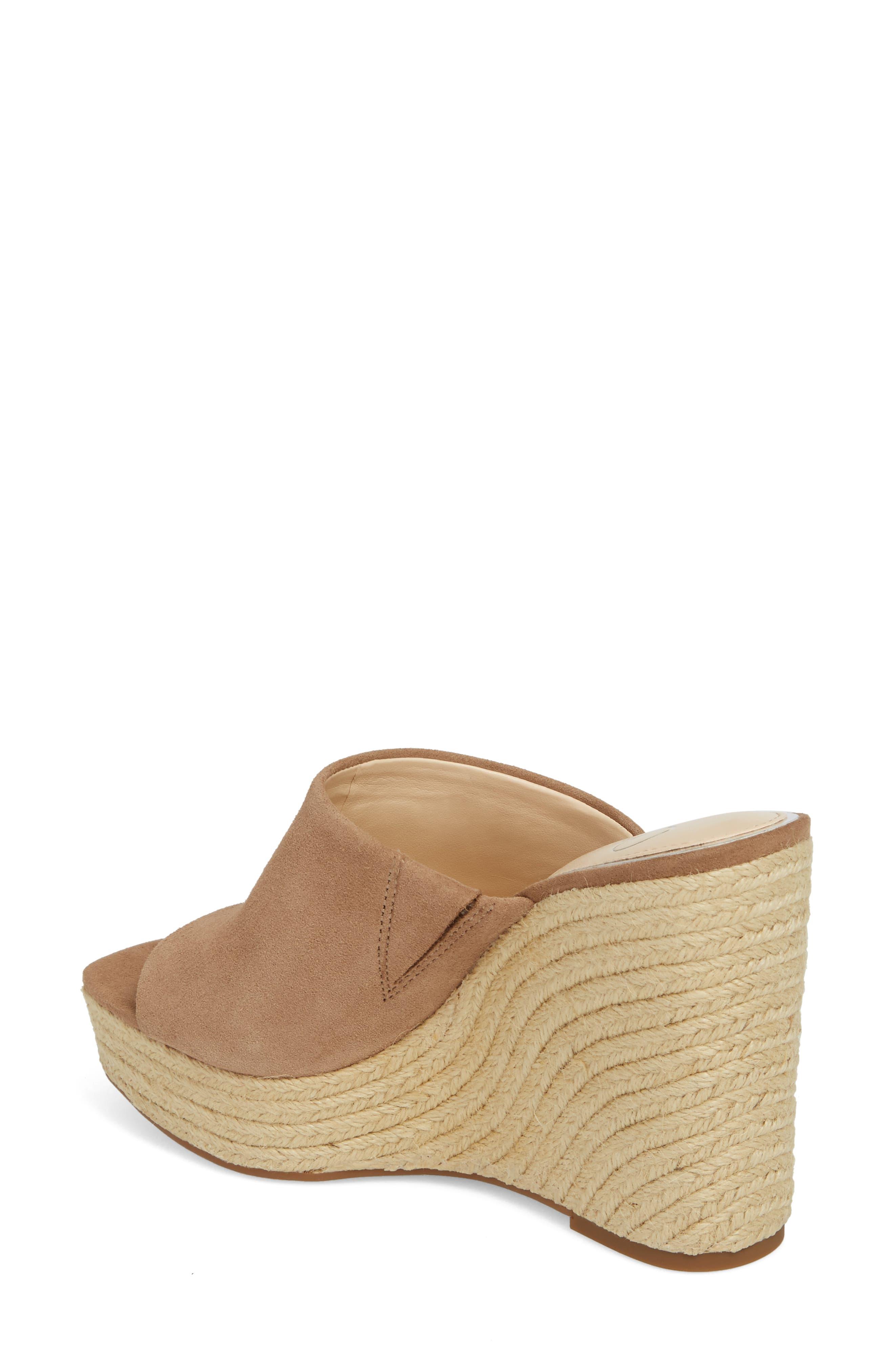 Sirella Platform Wedge Slide Sandal,                             Alternate thumbnail 5, color,