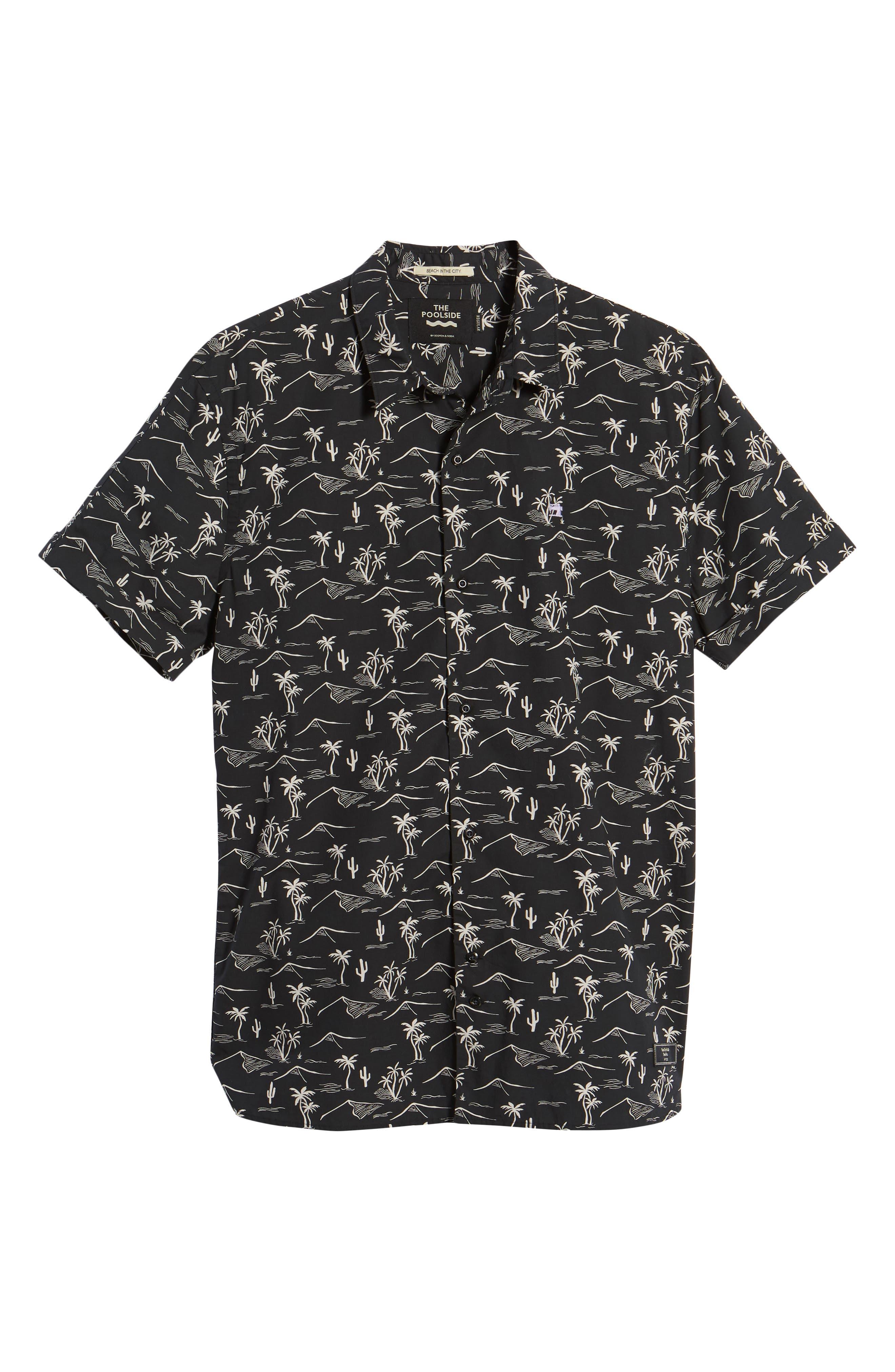 Poolside Woven Shirt,                             Alternate thumbnail 6, color,                             COMBO C