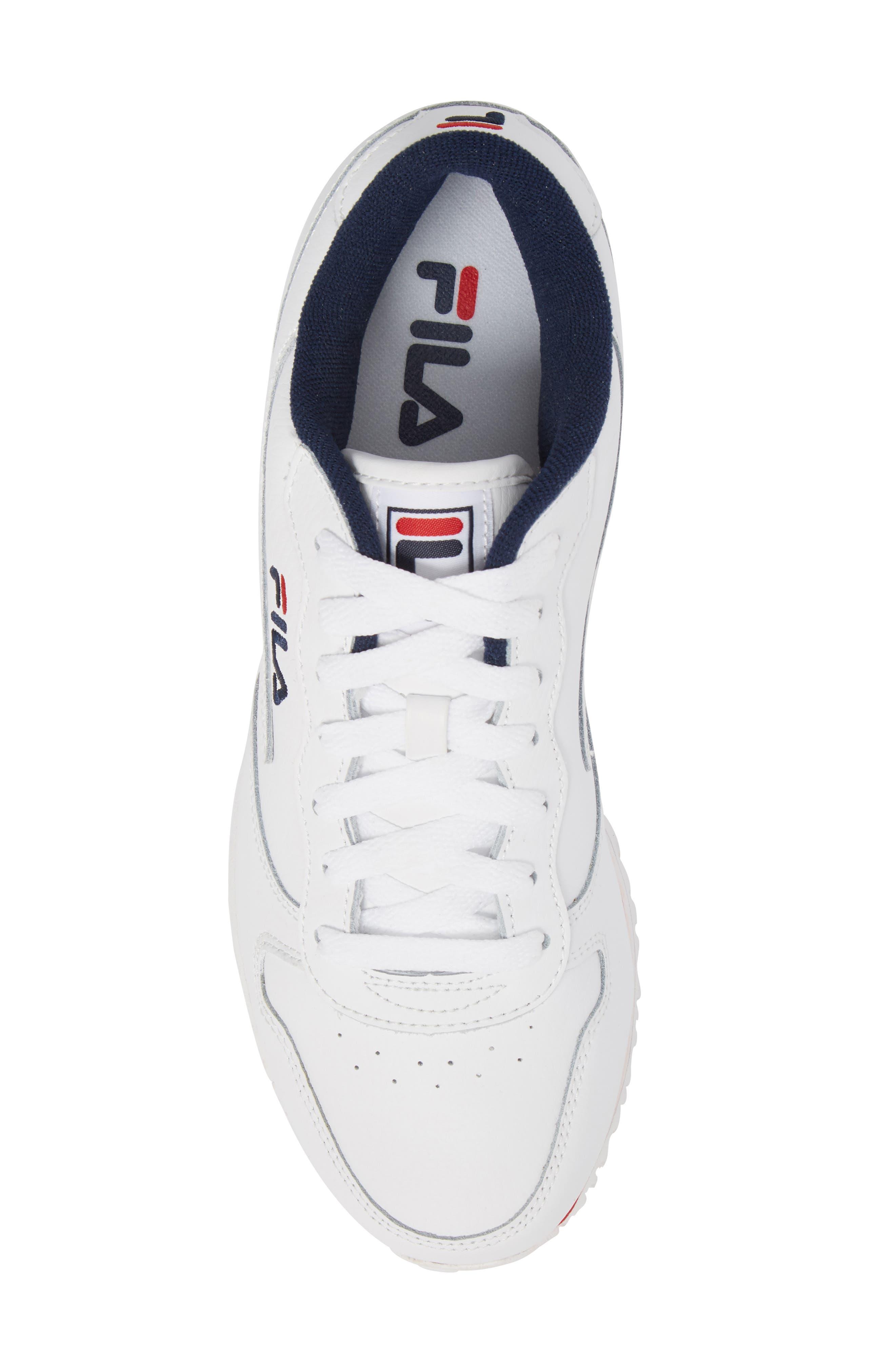 Euro Jogger Sneaker,                             Alternate thumbnail 5, color,                             WHITE/ NAVY/ RED